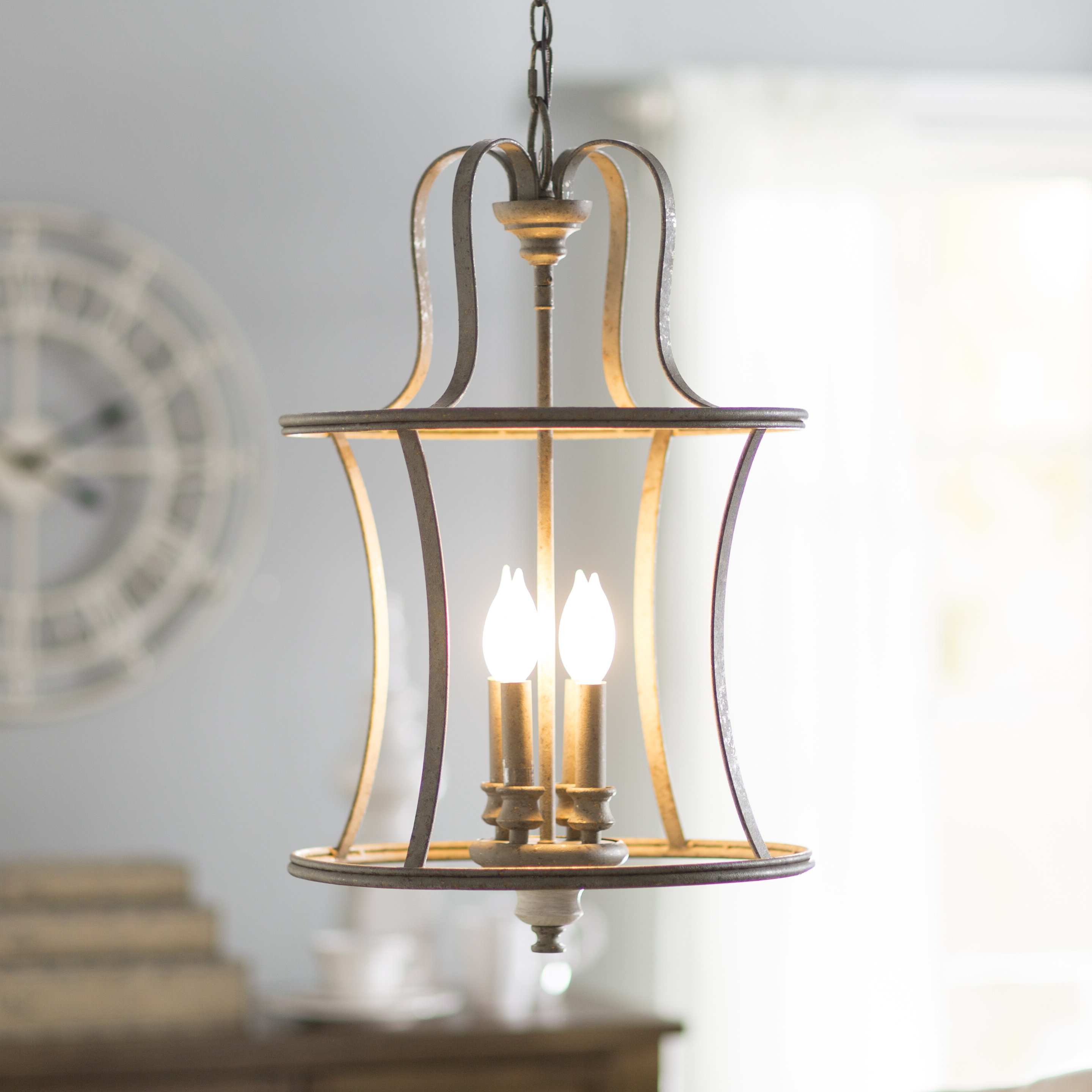 Best And Newest Armande 3 Light Lantern Geometric Pendants Regarding Lark Manor Armande Candle Style Chandelier & Reviews (View 7 of 20)