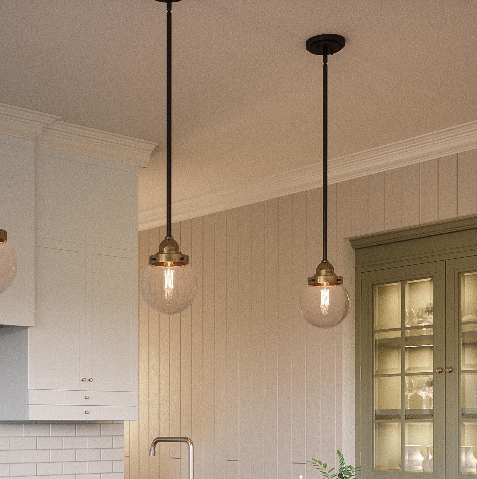 Brucie 1 Light Single Globe Pendant Throughout Fashionable 1 Light Globe Pendants (View 9 of 20)