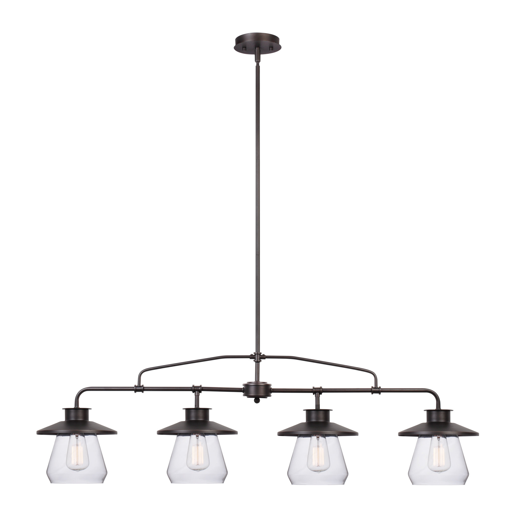 Current Ariel 2 Light Kitchen Island Dome Pendants Pertaining To Nate 4 Light Kitchen Island Pendant (View 10 of 20)