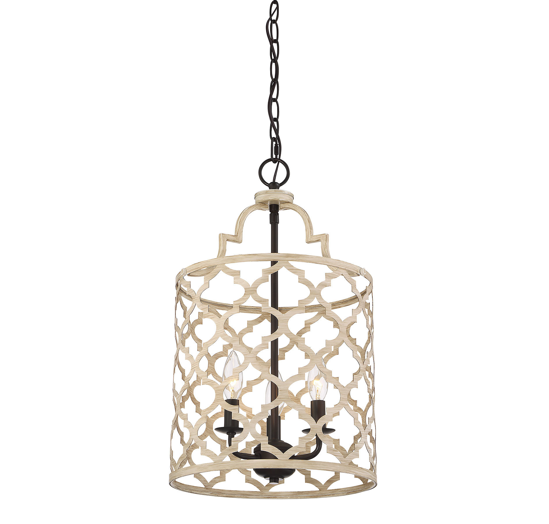 Current Armande 3 Light Lantern Geometric Pendants Regarding Agueda 3 Light Foyer Pendant (View 10 of 20)