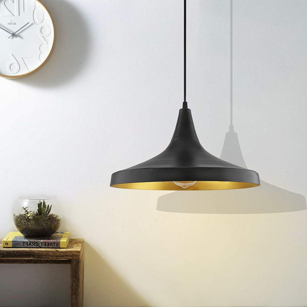 Details About Pendant Light Led Ceiling Lights Lamp Shade Industrial Cafe  Lighting Kitchen Bar Regarding Most Recently Released Akash Industrial Vintage 1 Light Geometric Pendants (Gallery 5 of 20)