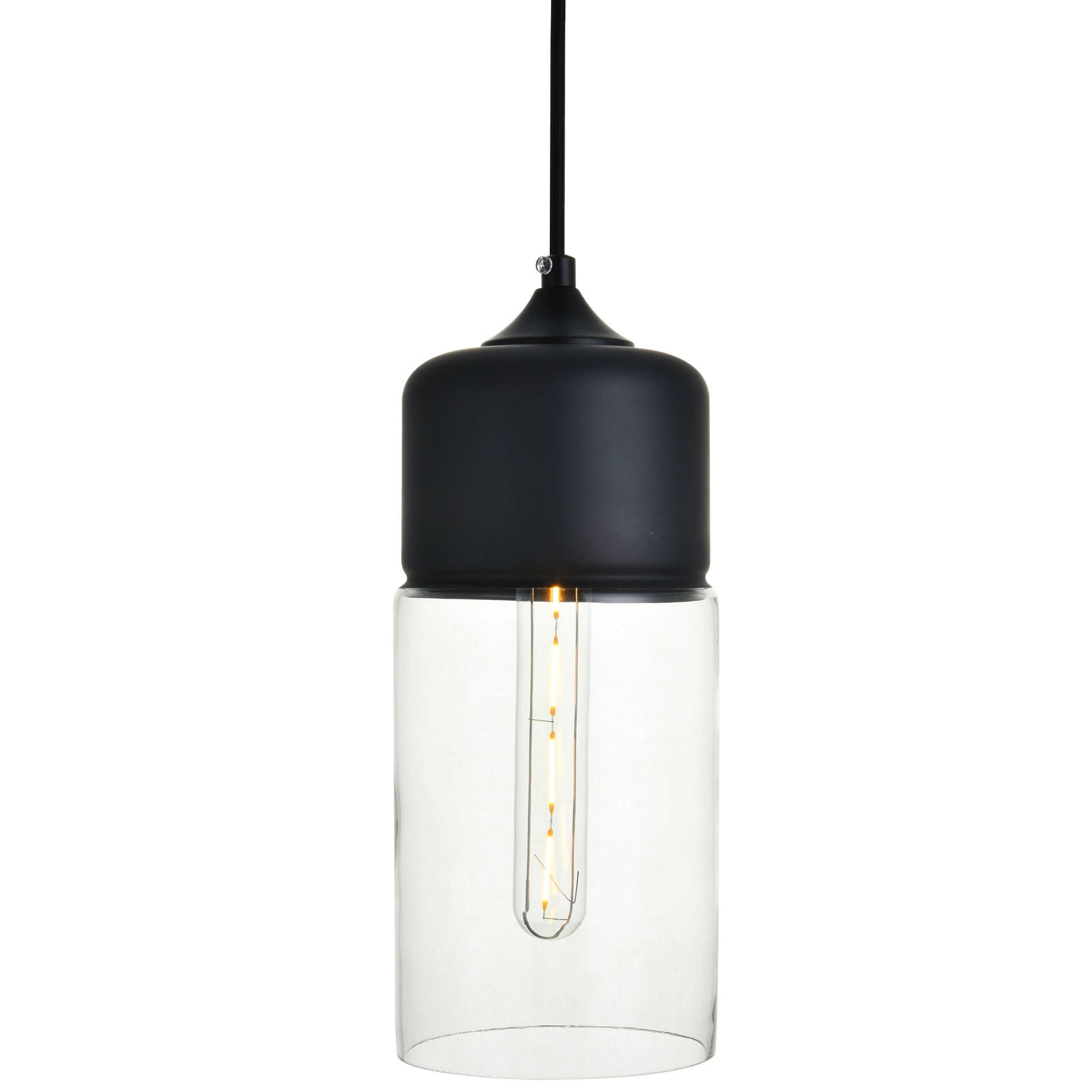"Elegant Lighting Ld2240 Ashwell Single Light 5"" Wide Mini Inside Well Liked Angelina 1 Light Single Cylinder Pendants (View 13 of 20)"