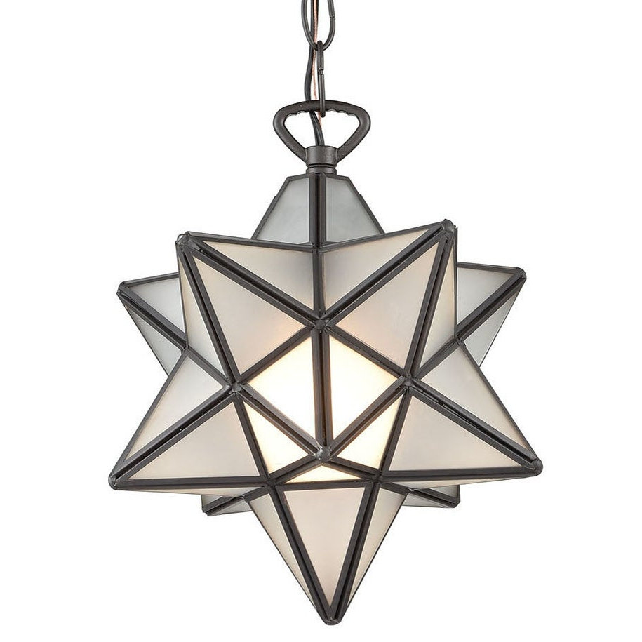 "Elk Home 1145 015 Moravian Star Single Light 9"" Wide Mini Pendant With Recent 1 Light Single Star Pendants (View 17 of 20)"