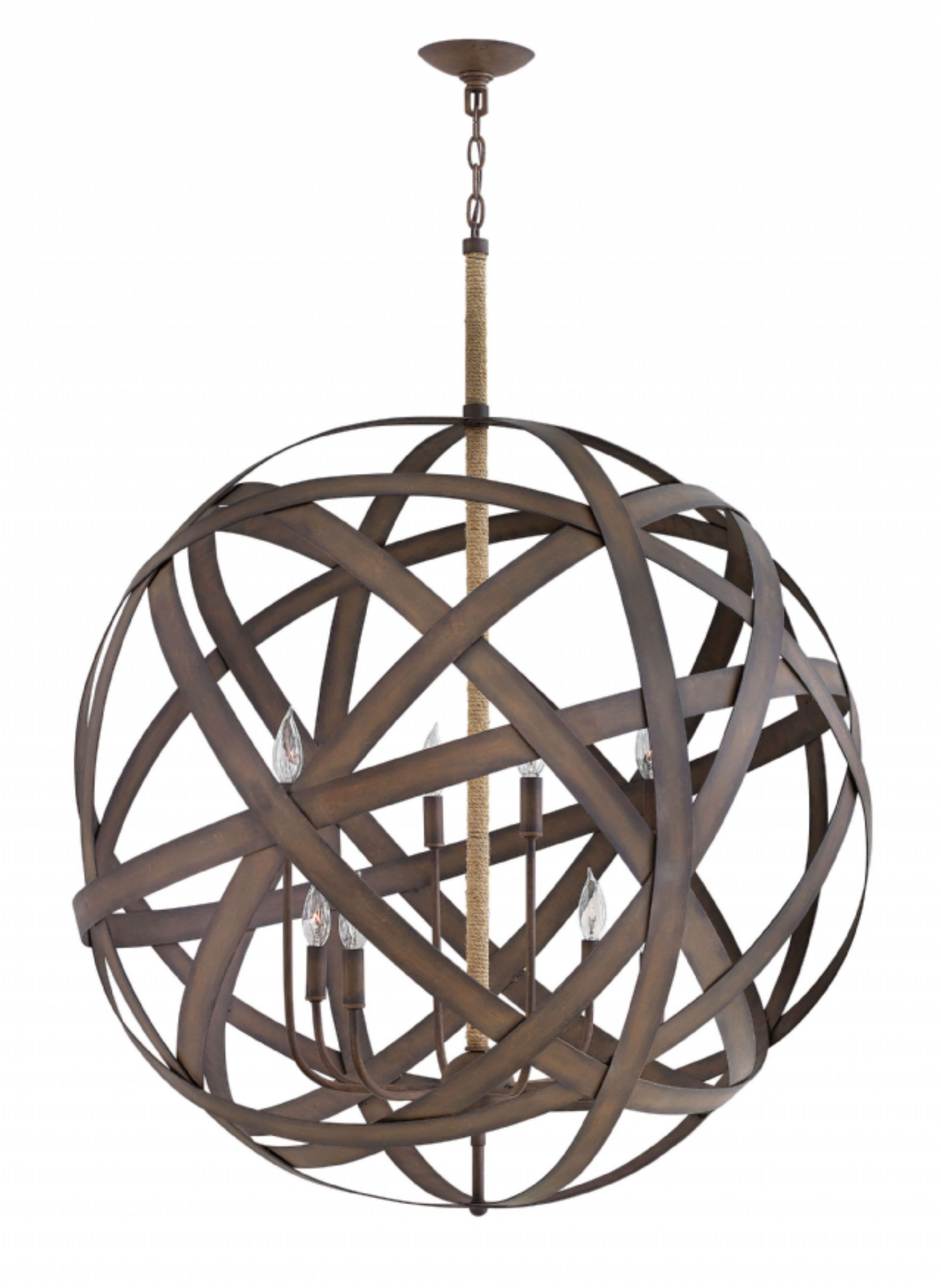 Fashionable Hinkley Lighting Carries Many Vintage Iron Carson Interior Pertaining To Adcock 3 Light Single Globe Pendants (View 12 of 20)
