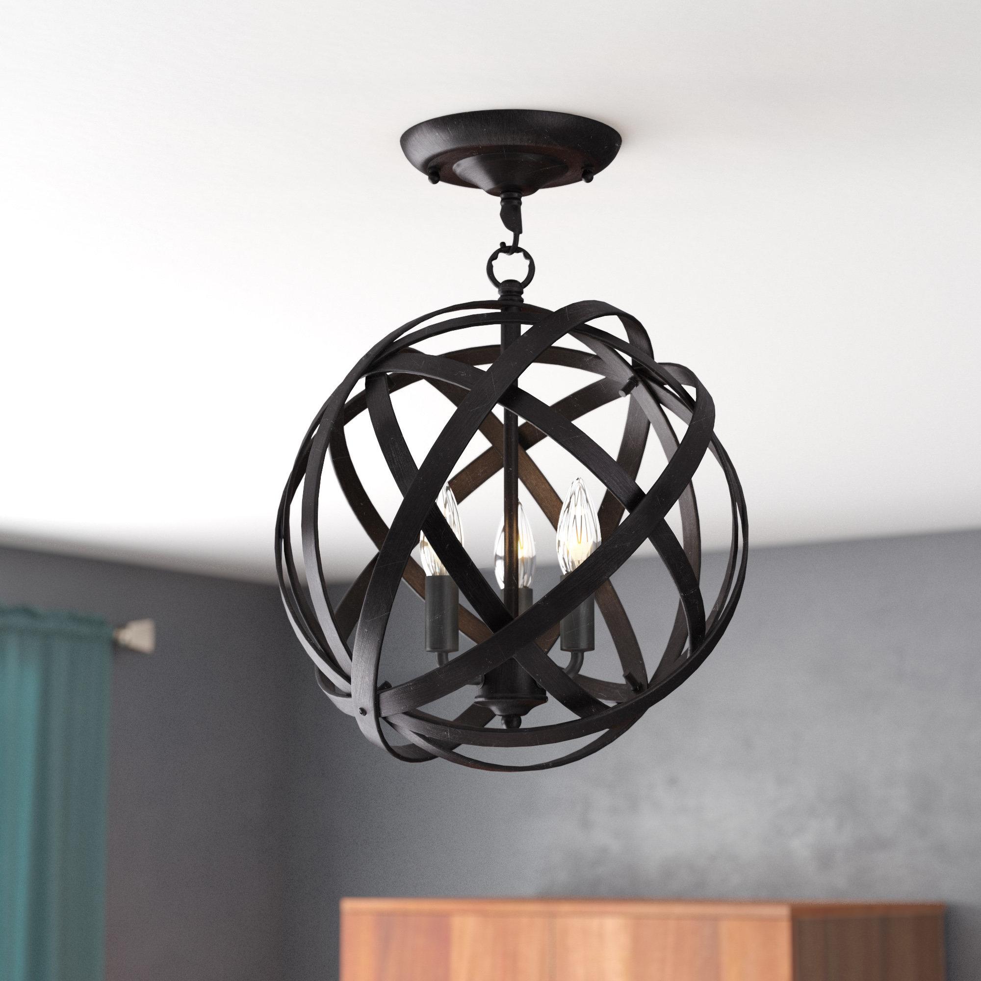 Favorite Adcock 3 Light Single Globe Pendants For Willa Arlo Interiors Alden 3 Light Single Globe Pendant (View 8 of 20)