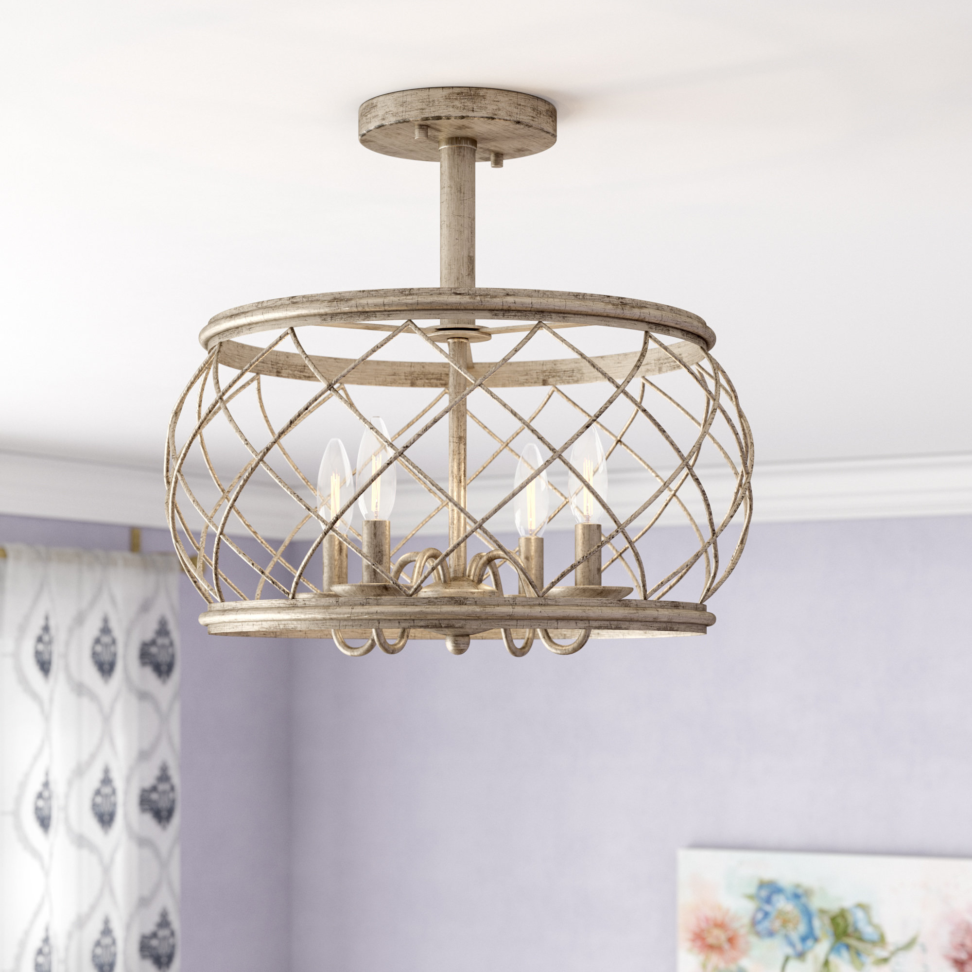 Favorite Armande 4 Light Lantern Drum Pendants Throughout Laurel Foundry Modern Farmhouse Denise 4 Light Lantern Drum (View 7 of 20)