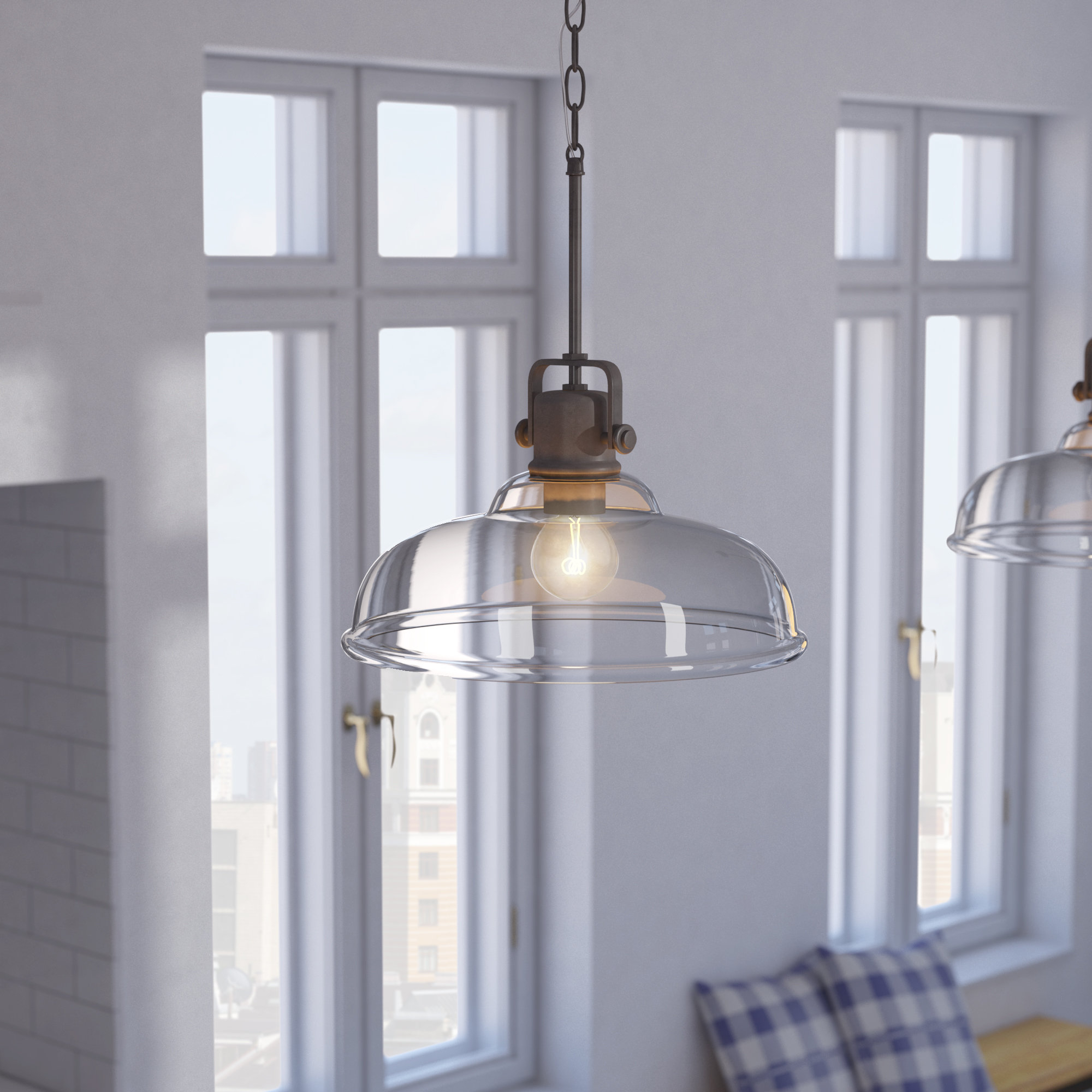 Fuhrmann Inverted 1 Light Dome Pendant Inside Well Known Akakios 1 Light Single Bell Pendants (View 11 of 20)