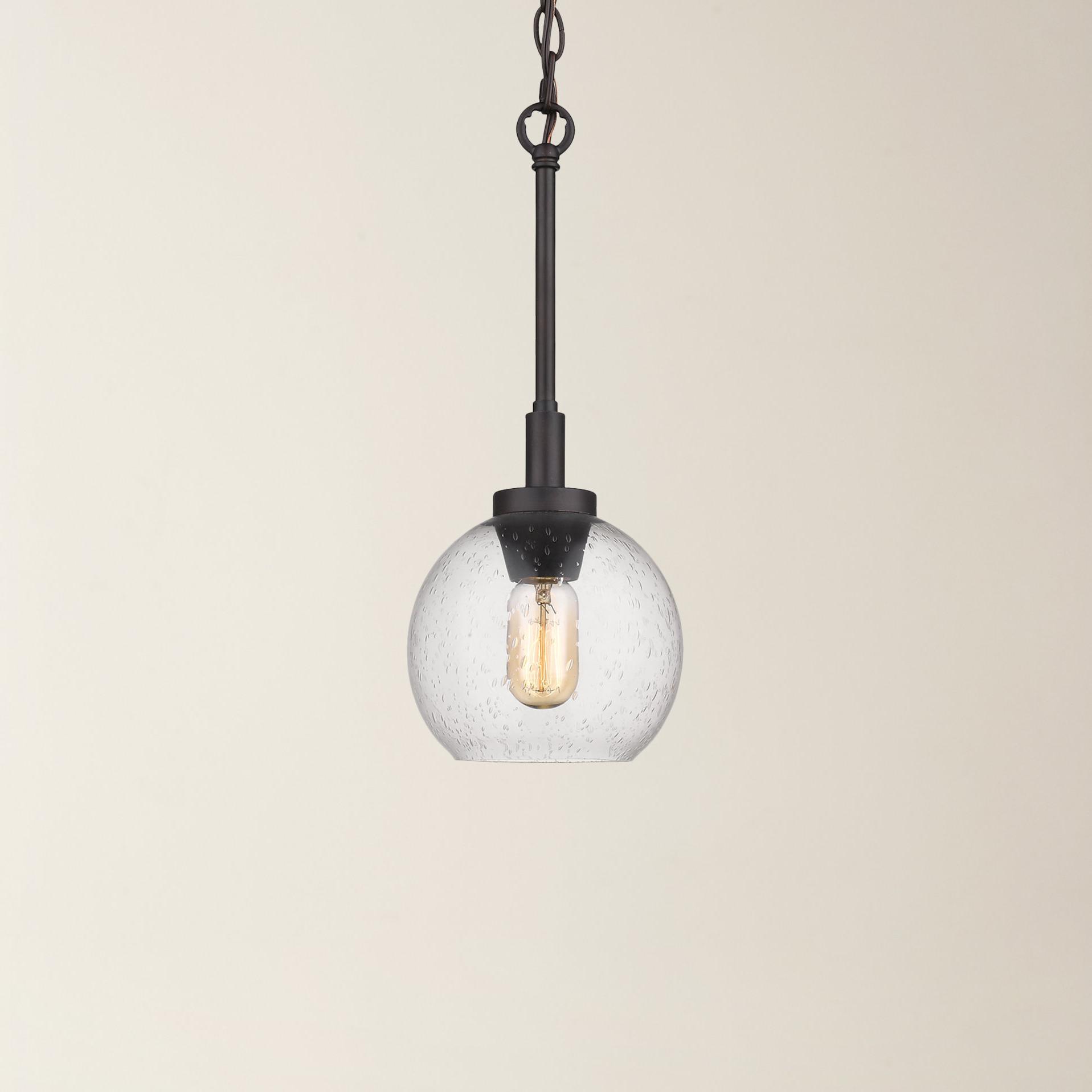 Fulton 1 Light Single Globe Pendant Regarding Most Recently Released Abordale 1 Light Single Dome Pendants (View 11 of 20)