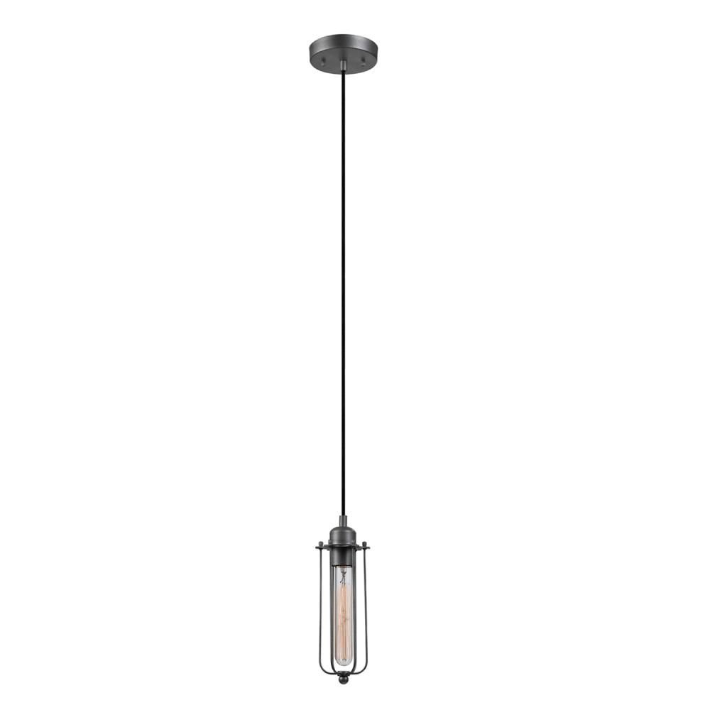 Globe Electric Shilo 1 Light Galvanized Pendant In 2019 Inside 2019 Angelina 1 Light Single Cylinder Pendants (View 16 of 20)