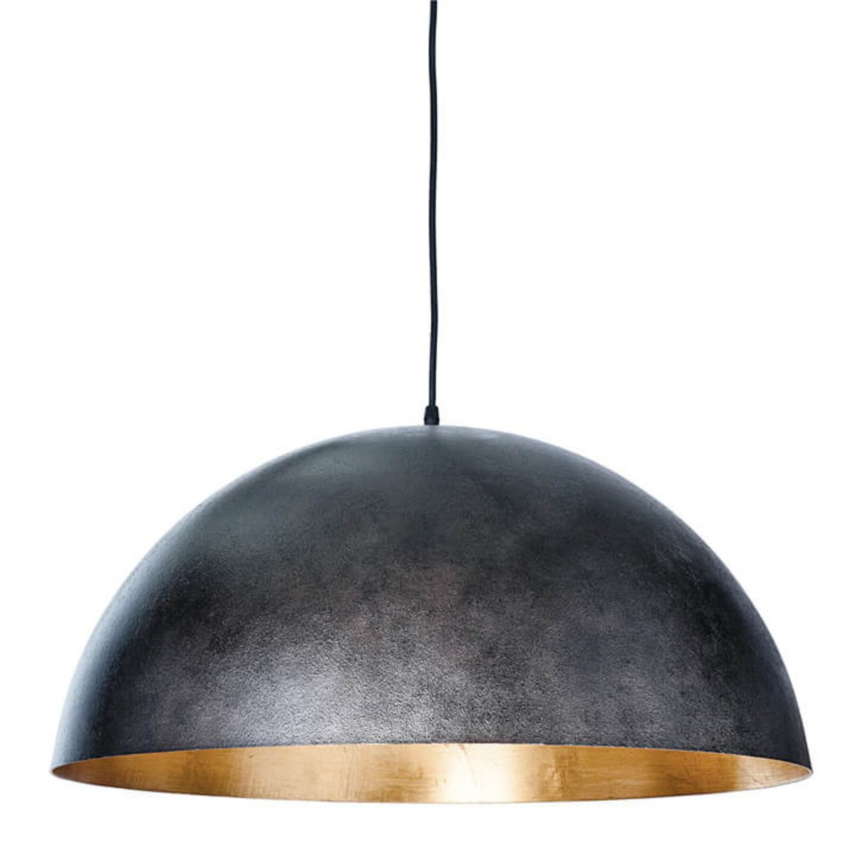 Gym Lighting Sigmund Pendant Large (Black & Gold For Newest Adriana Black 1 Light Single Dome Pendants (Gallery 18 of 20)
