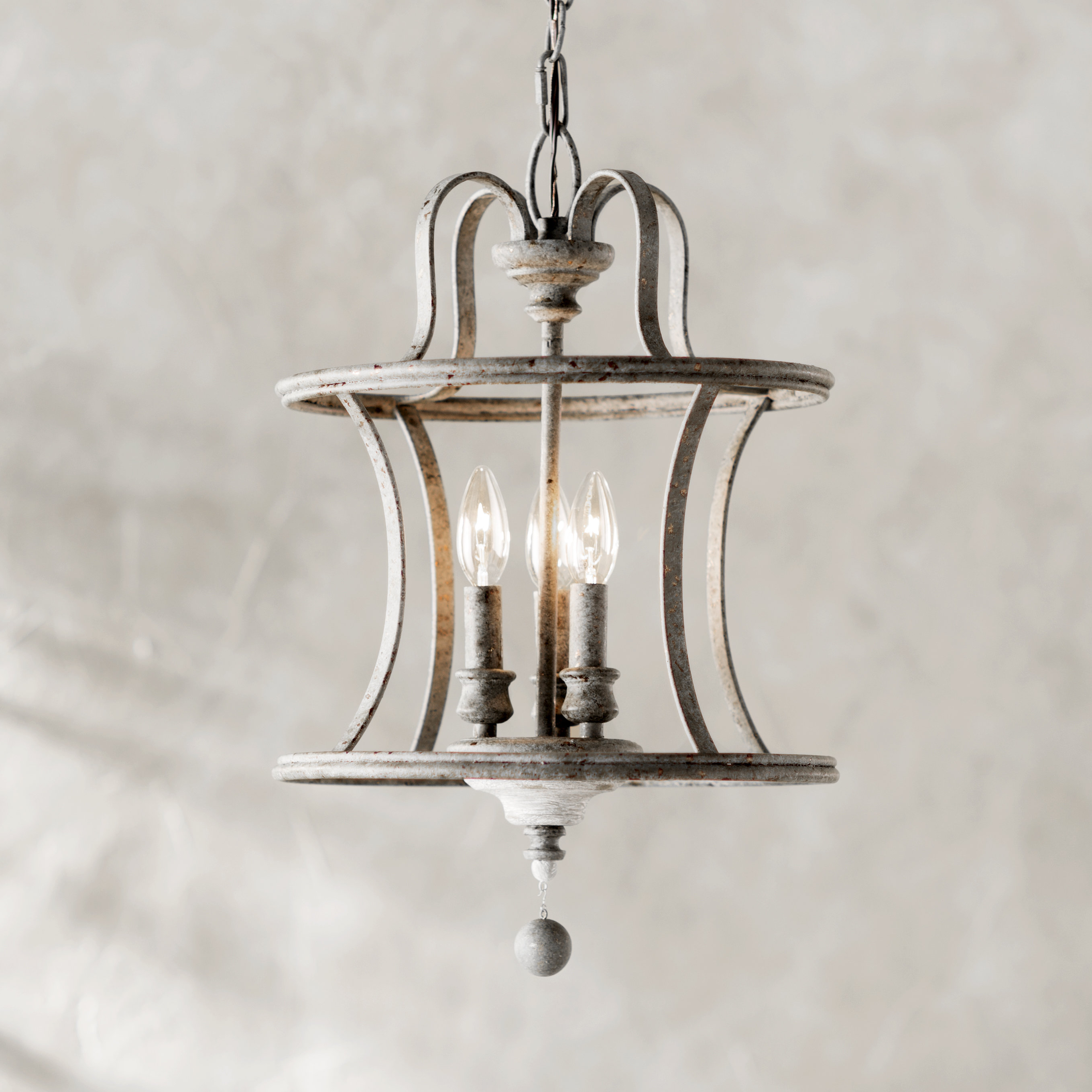 Lark Manor Armande 4 Light Lantern Drum Pendant & Reviews Inside Popular Armande 3 Light Lantern Geometric Pendants (View 12 of 20)
