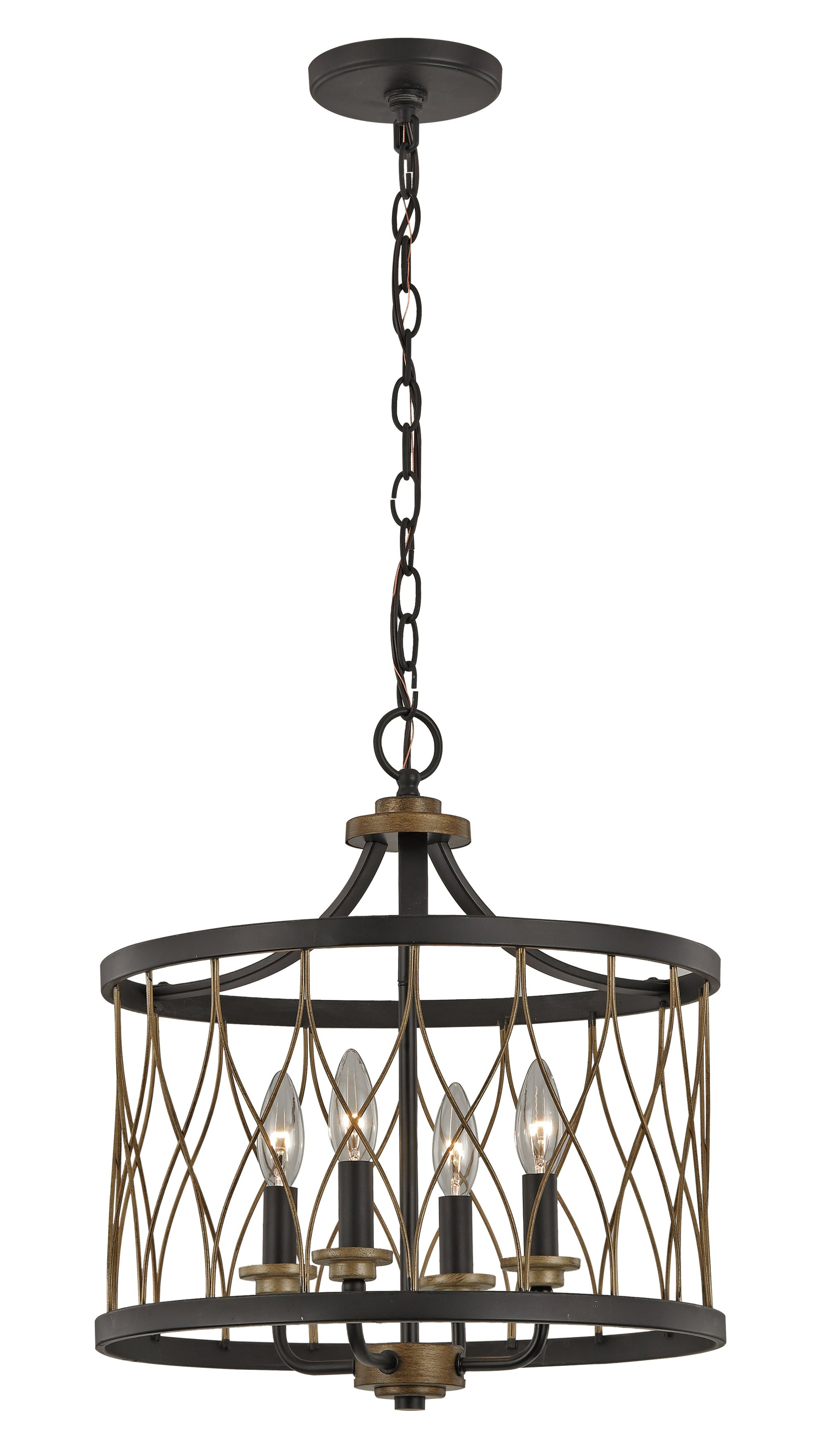 Laurel Foundry Modern Farmhouse Denise 4 Light Lantern Drum Intended For 2020 Armande 4 Light Lantern Drum Pendants (View 8 of 20)
