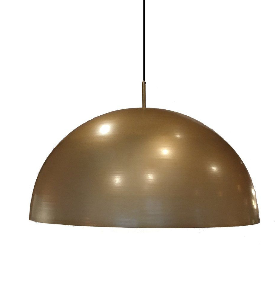 Leonard Brass Dome Pendant Light (View 14 of 20)