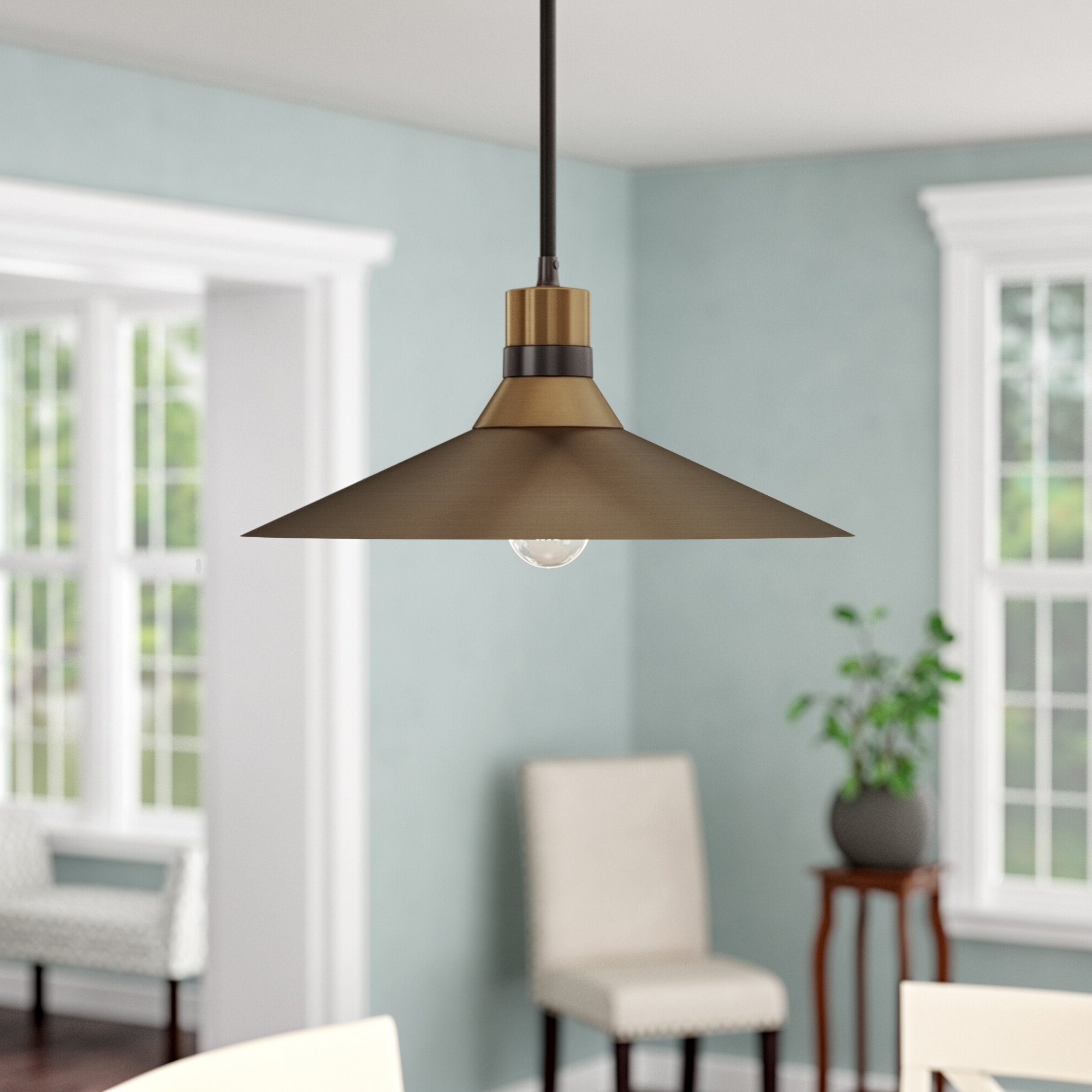 Lily 1 Light Single Cone Pendant With Popular Adriana Black 1 Light Single Dome Pendants (View 9 of 20)