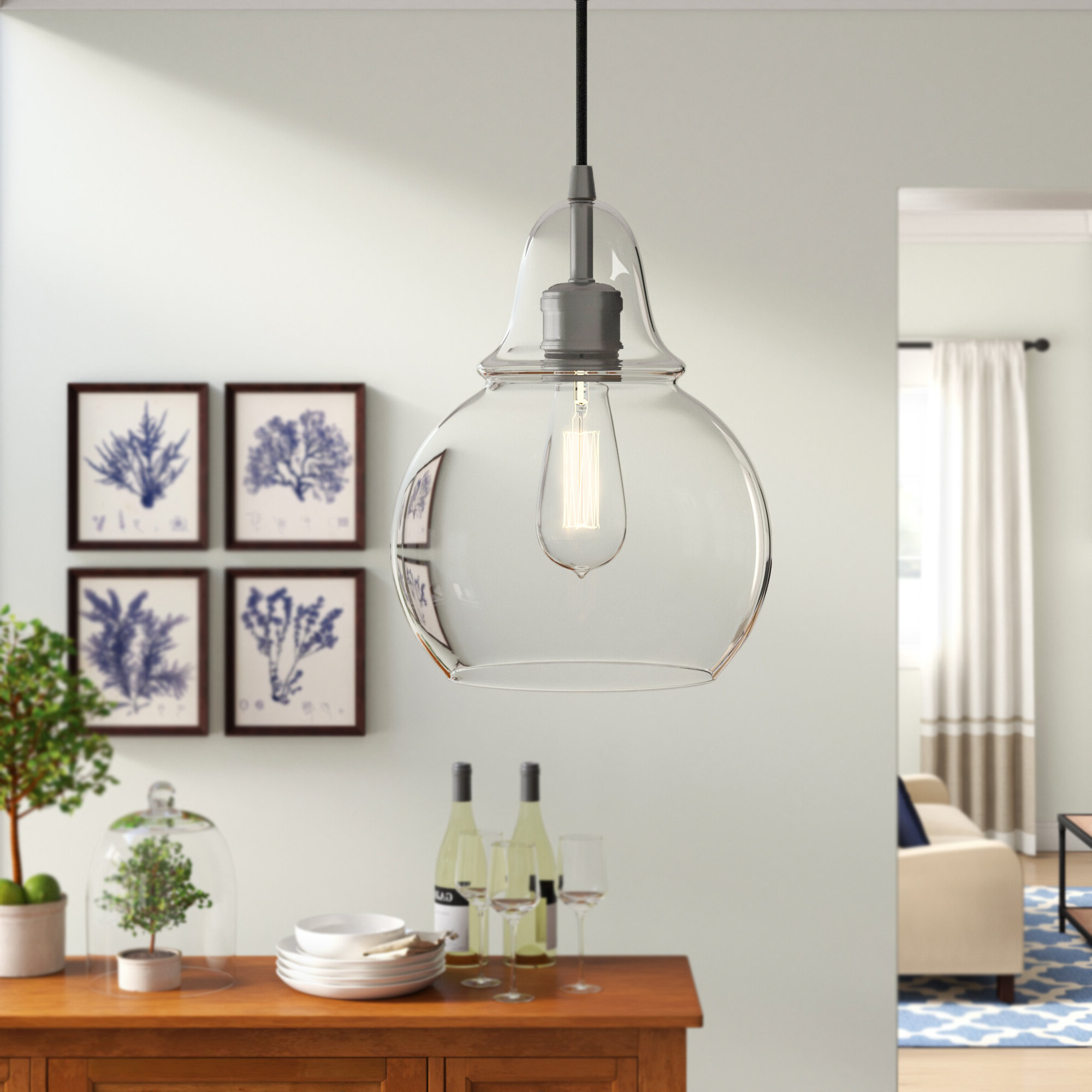 Most Current Akakios 1 Light Single Bell Pendants For Mercury Row Conard 1 Light Single Bell Pendant (View 13 of 20)