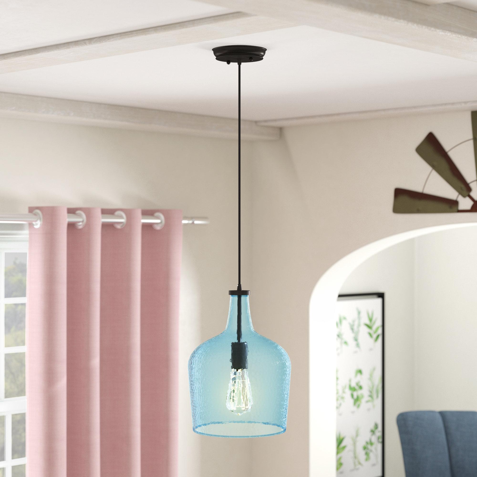 Most Popular 1 Light Single Bell Pendants Inside Scruggs 1 Light Single Bell Pendant (View 13 of 20)