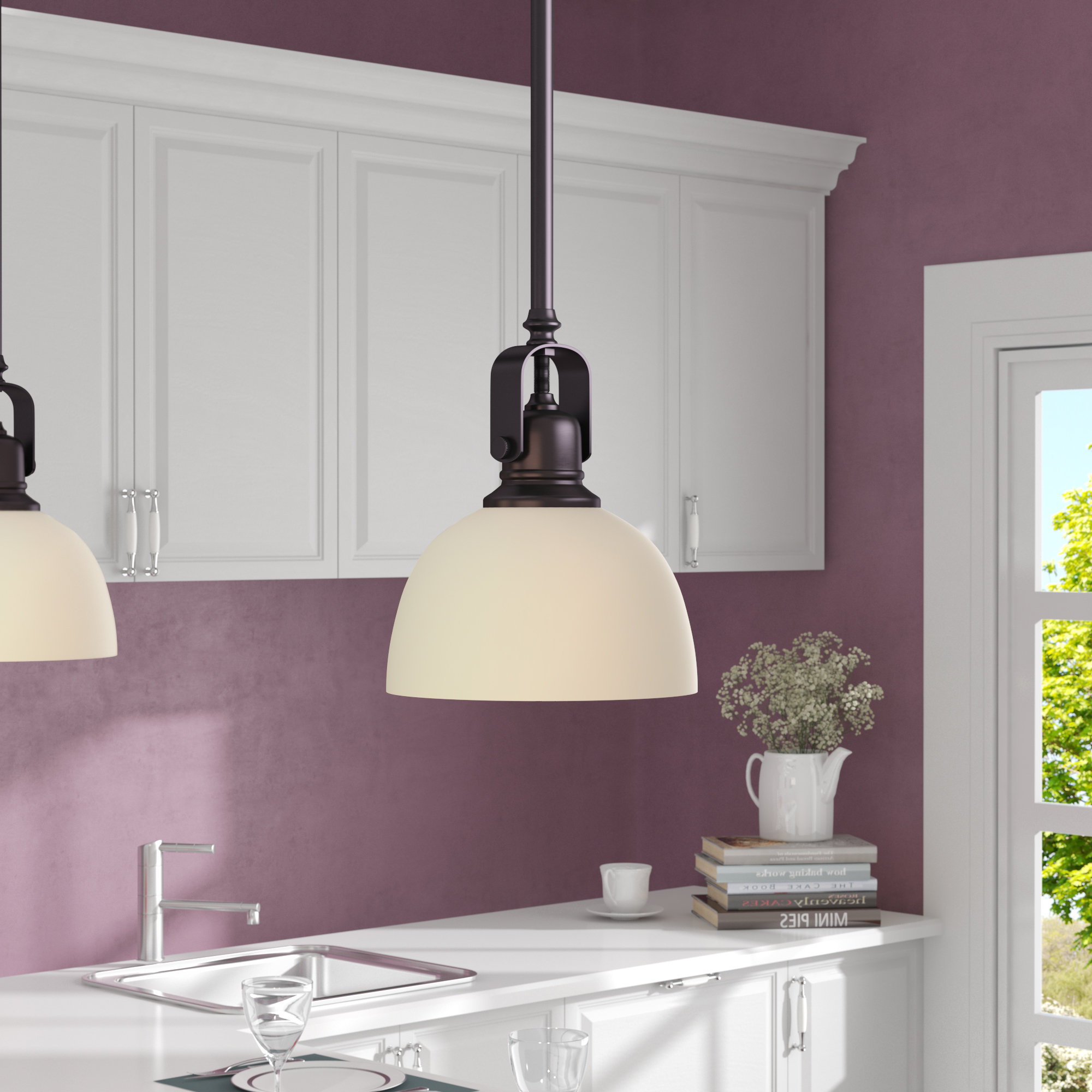Featured Photo of Abernathy 1 Light Dome Pendants