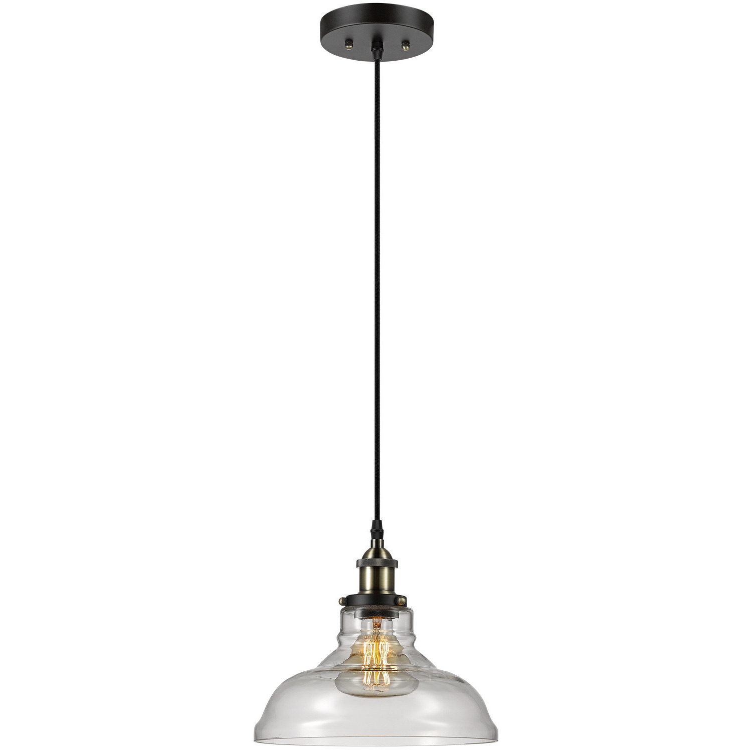 Most Popular Muirhead 1 Light Dome Pendant For Adriana Black 1 Light Single Dome Pendants (View 20 of 20)