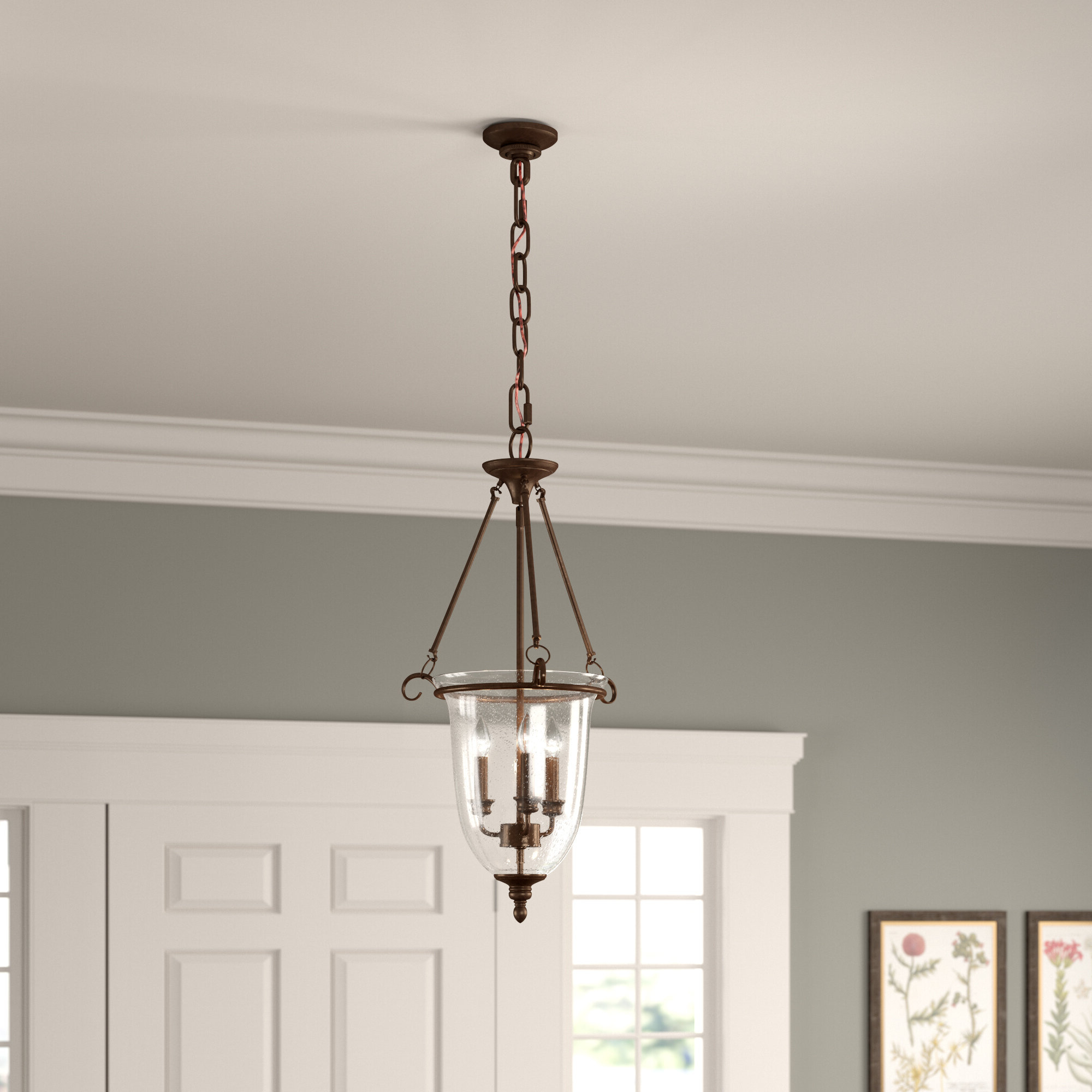 Most Recent 3 Light Single Urn Pendant Throughout 3 Light Single Urn Pendants (Gallery 6 of 20)