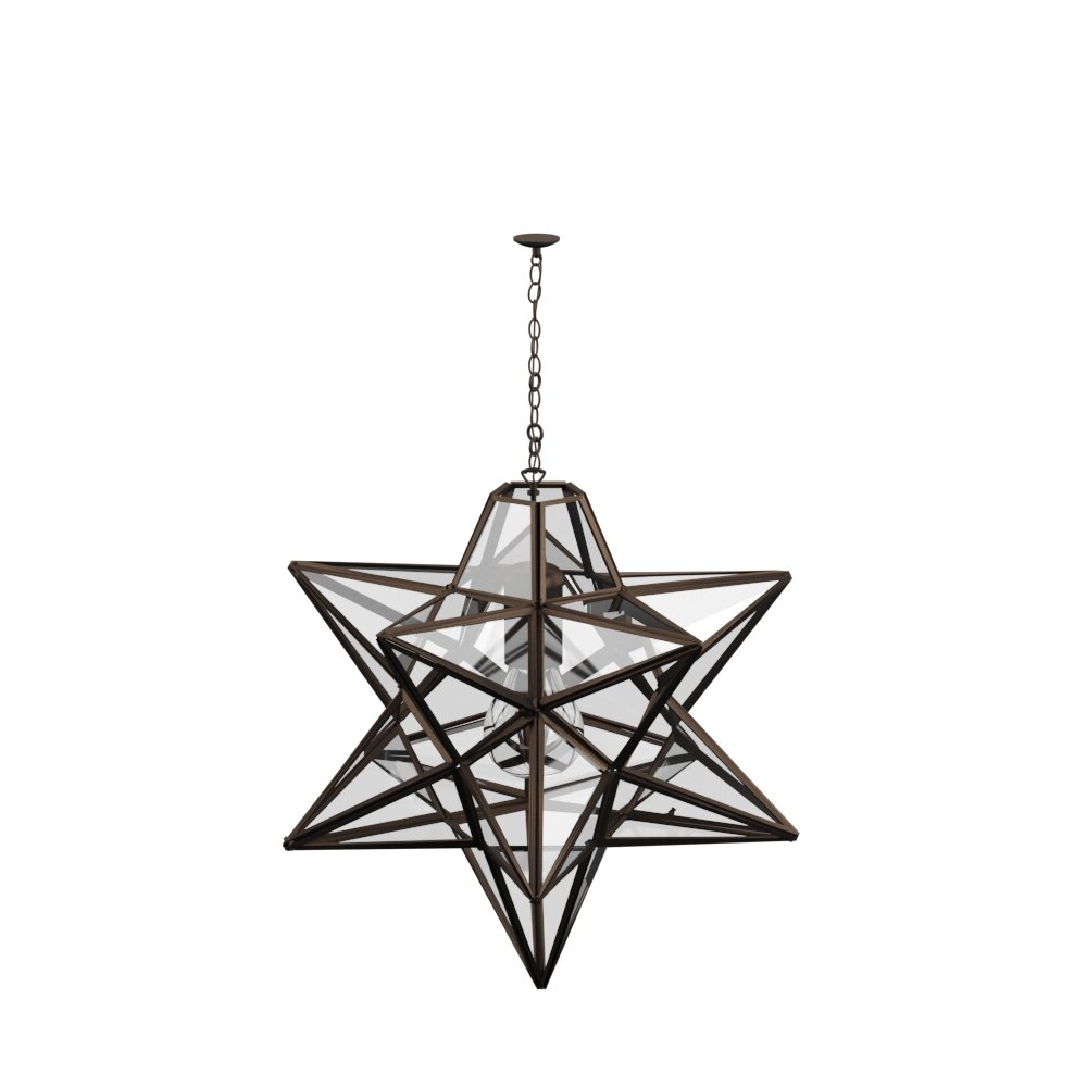 Featured Photo of 1 Light Single Star Pendants