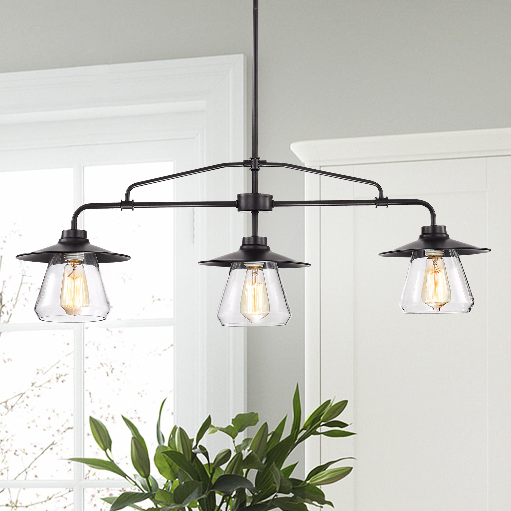 Most Up To Date Ariel 3 Light Kitchen Island Dome Pendants Throughout Kitchen Island Pendant Lighting Fixtures – Gnubies (View 14 of 20)