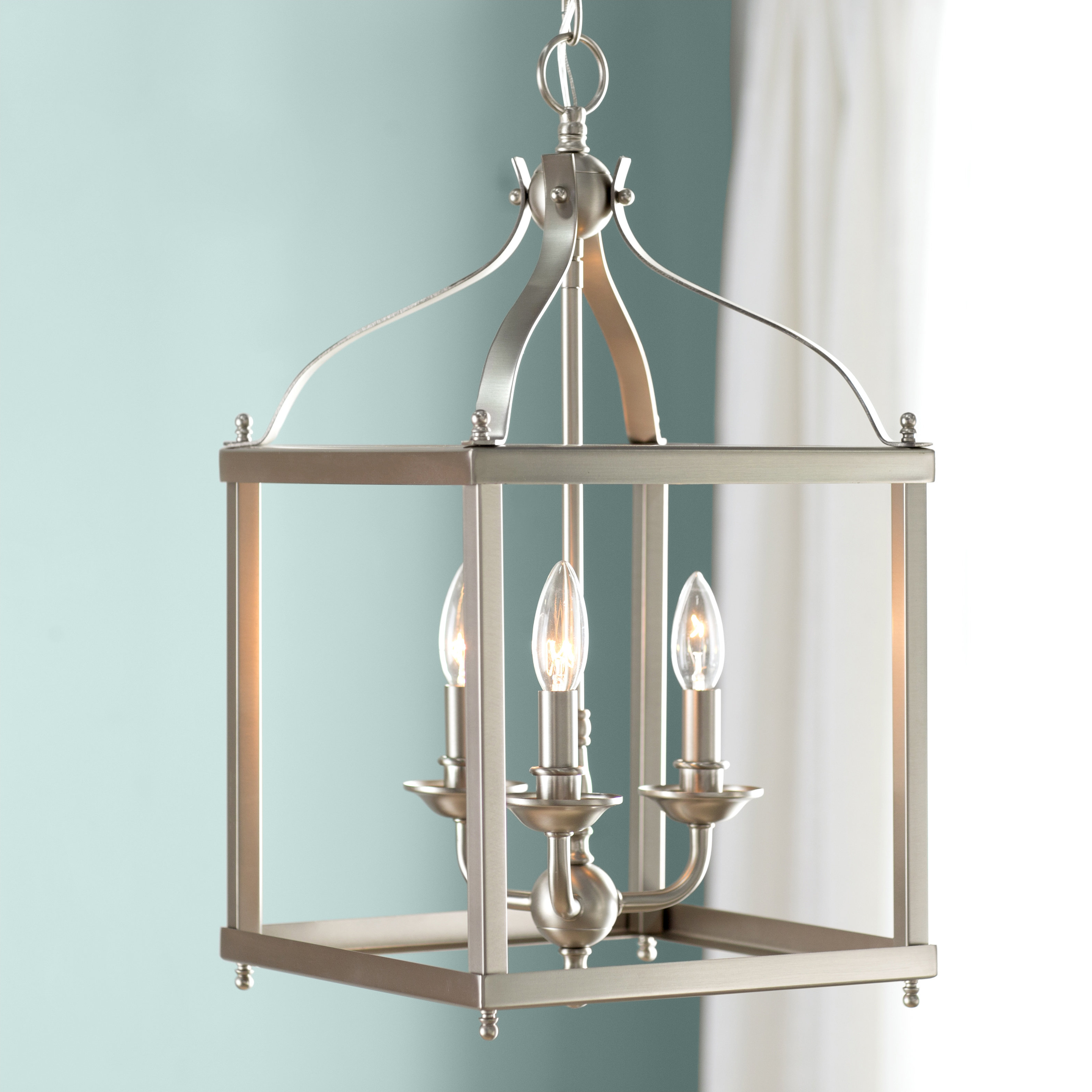 Most Up To Date Brumley 3 Light Foyer Pendant For Armande 3 Light Lantern Geometric Pendants (View 15 of 20)