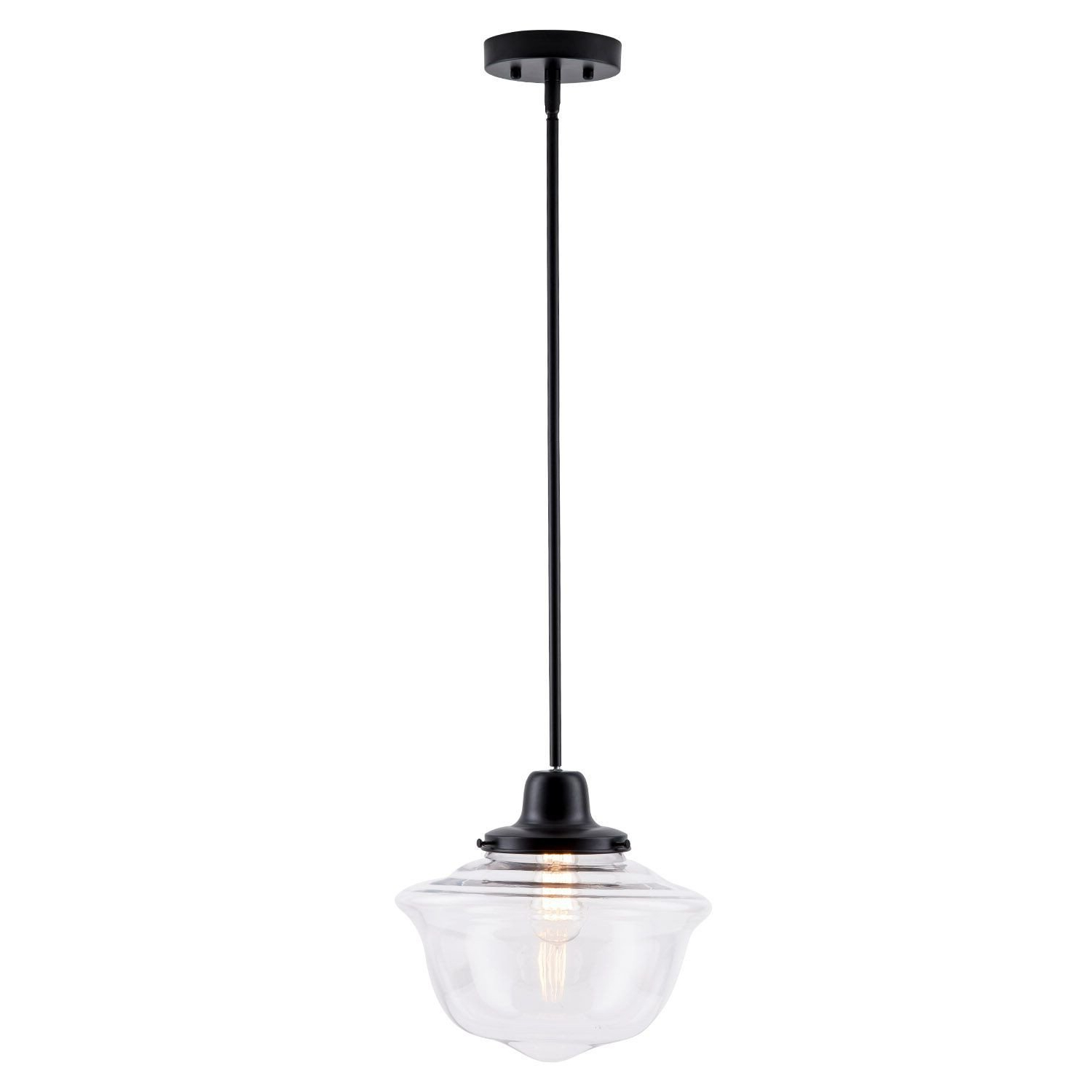 Most Up To Date Laurel Foundry Modern Farmhouse Isaiah 1 Light Single Schoolhouse Pendant Pertaining To Bainbridge 1 Light Single Cylinder Pendants (View 15 of 20)