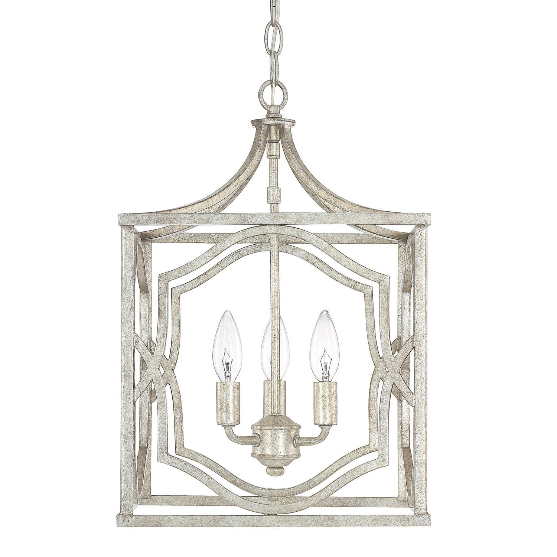 Newest Armande 3 Light Lantern Geometric Pendants In Destrey 3 Light Lantern Square/rectangle Pendant & Reviews (View 17 of 20)