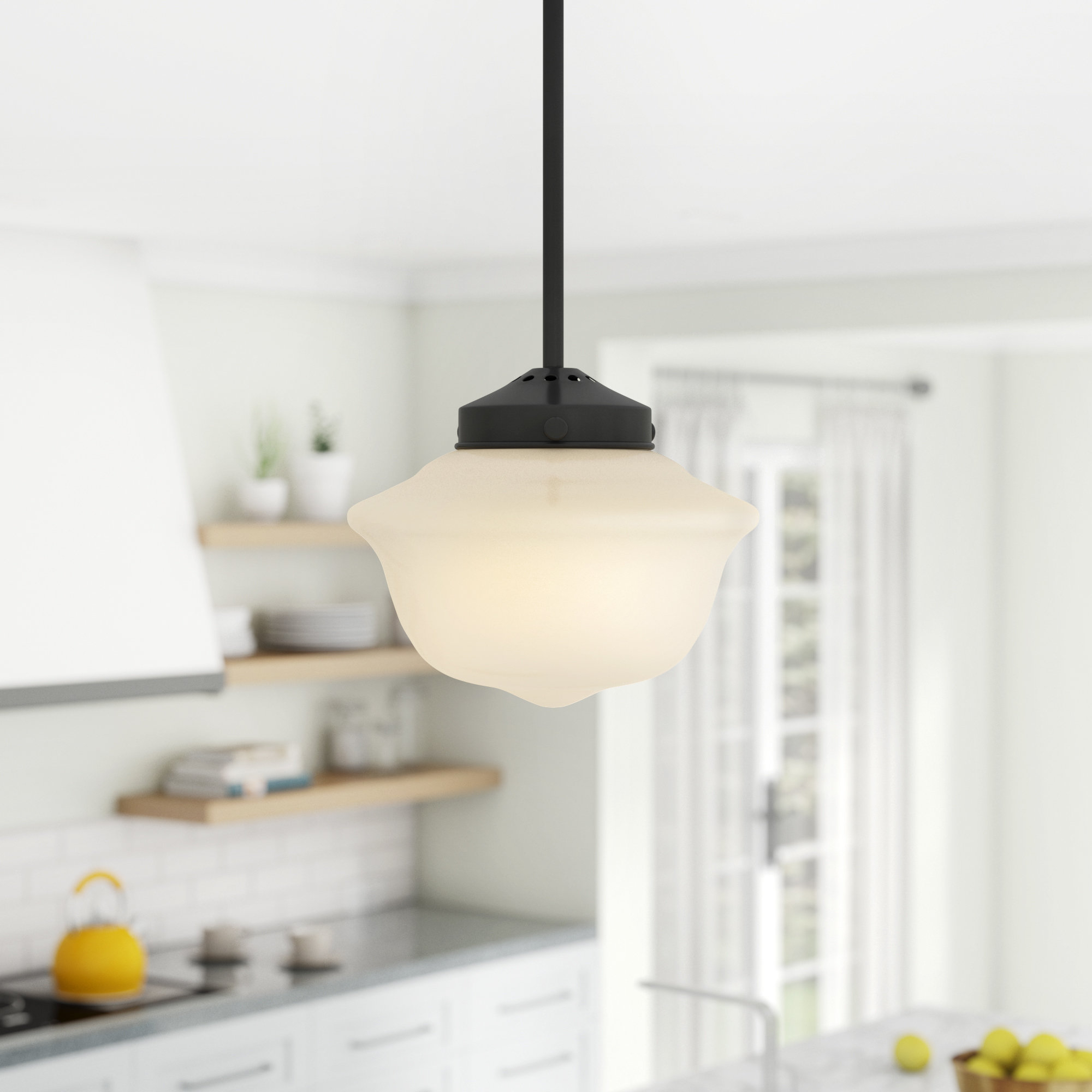 Newest Hildred 1 Light Single Schoolhouse Pendant With 1 Light Single Schoolhouse Pendants (Gallery 3 of 20)