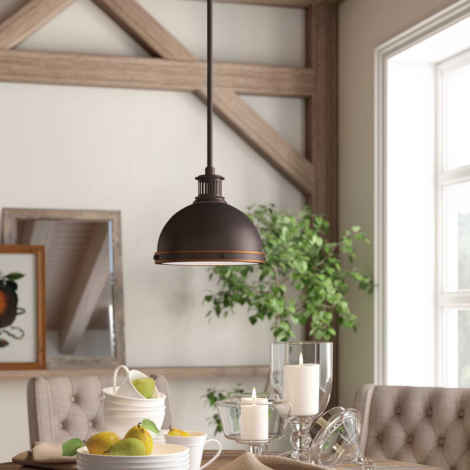 Orchard Hill 1 Light Led Dome Pendant With Latest Amara 2 Light Dome Pendants (View 16 of 20)