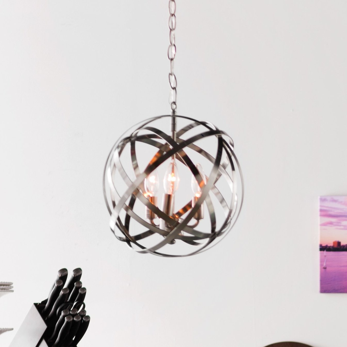 Featured Photo of Adcock 3 Light Single Globe Pendants