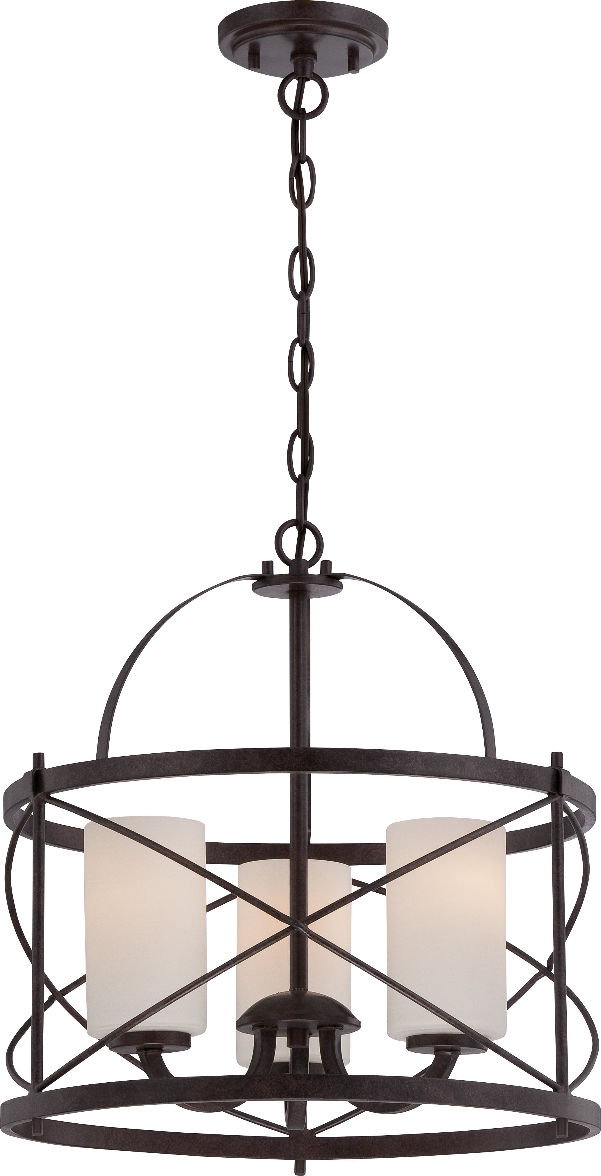 Popular Adcock 3 Light Single Globe Pendants Throughout Darby Home Co Farrier 3 Light Lantern Drum Pendant (View 20 of 20)