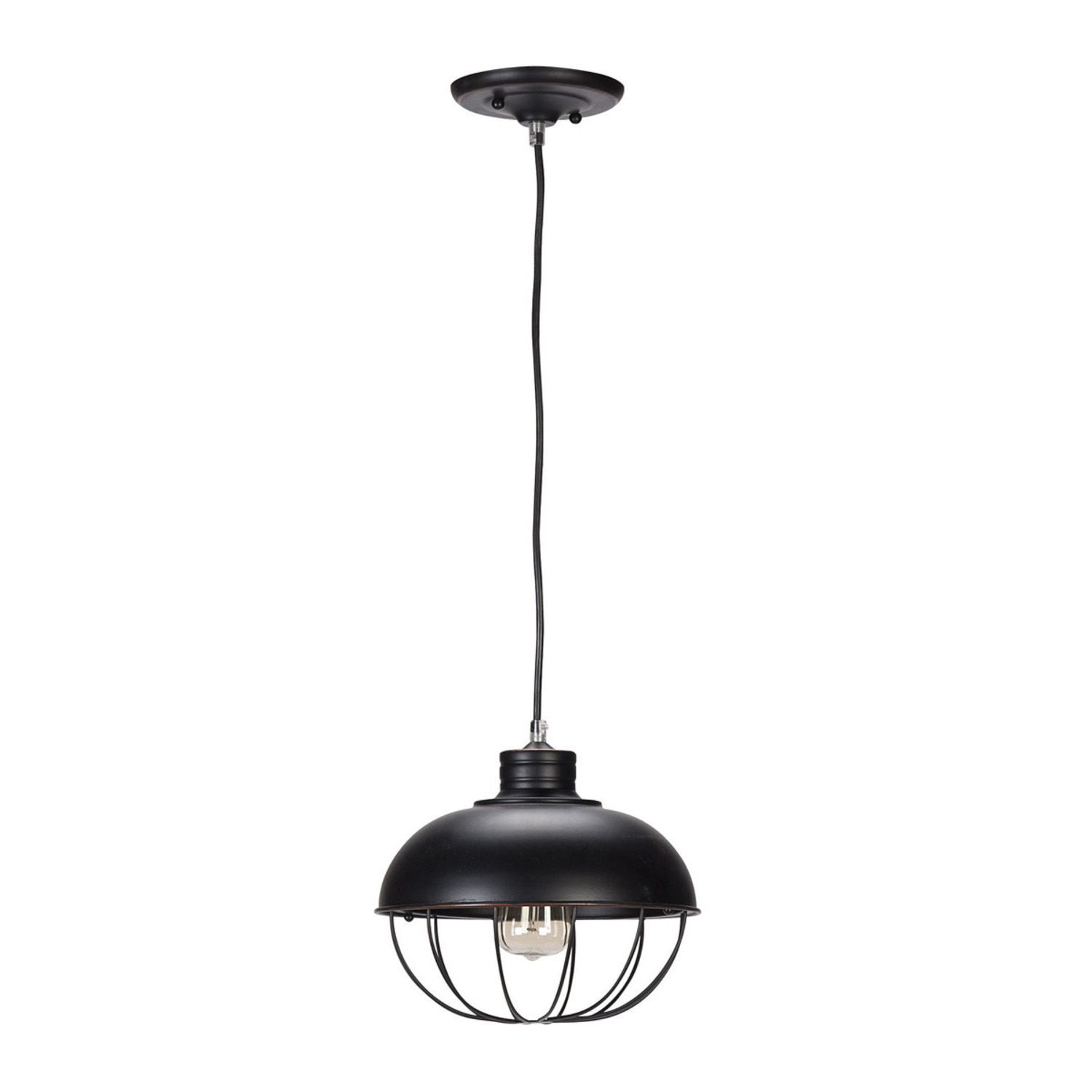Popular Demi 1 Light Globe Pendant Regarding Adriana Black 1 Light Single Dome Pendants (View 19 of 20)