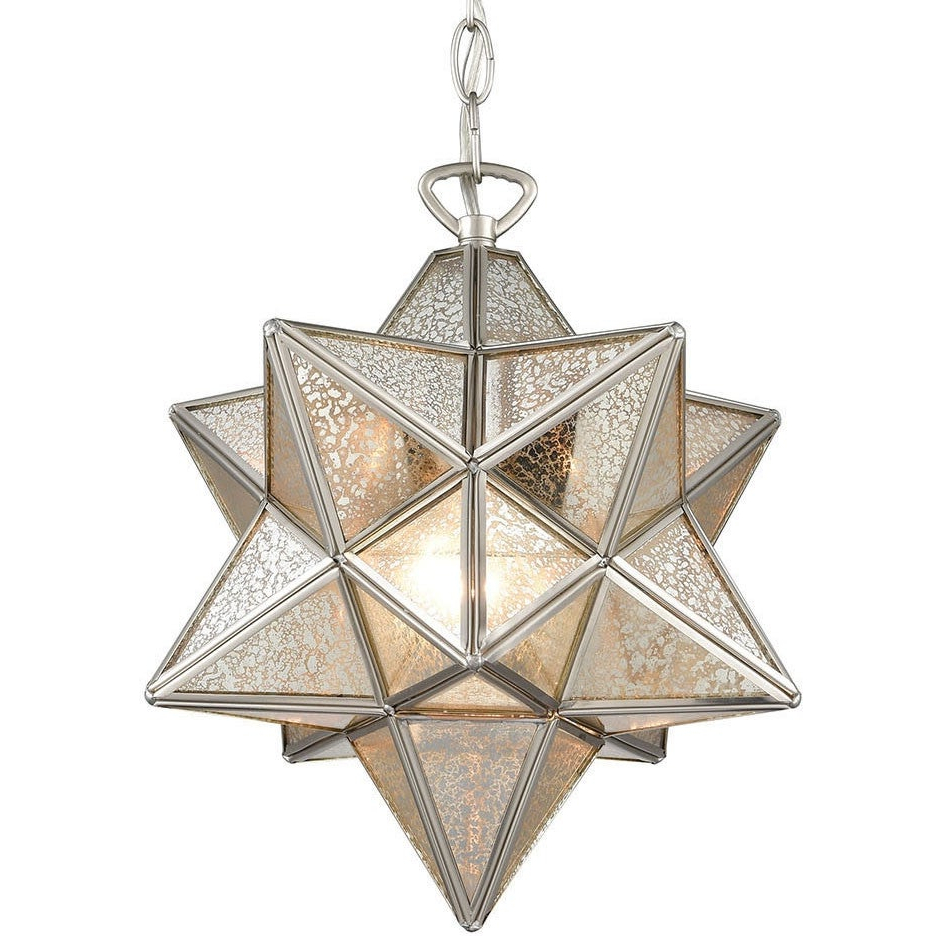 "Preferred 1 Light Single Star Pendants With Elk Home 1145 022 Moravian Star Single Light 12"" Wide Pendant (View 16 of 20)"