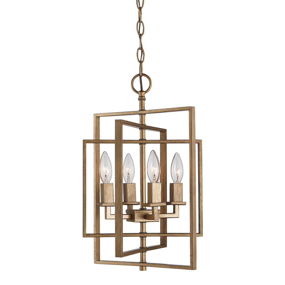 Preferred Armande 4 Light Lantern Drum Pendants With Bel Air Lighting El Capitan 4 Light Antique Gold Pendant (View 16 of 20)