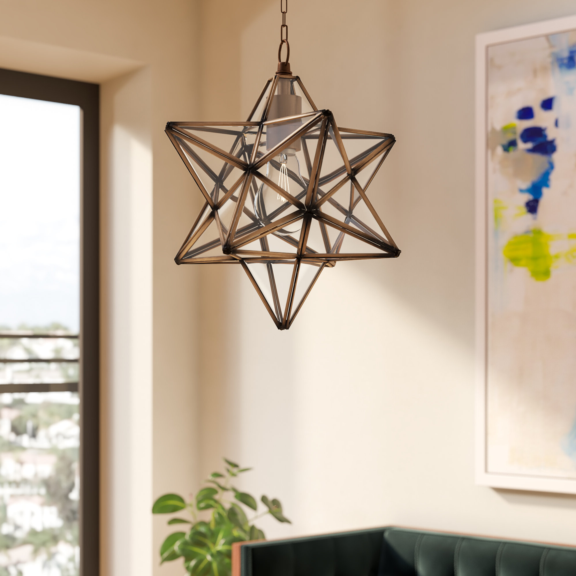 Preferred Shuler 1 Light Single Star Pendant Inside 1 Light Single Star Pendants (View 4 of 20)