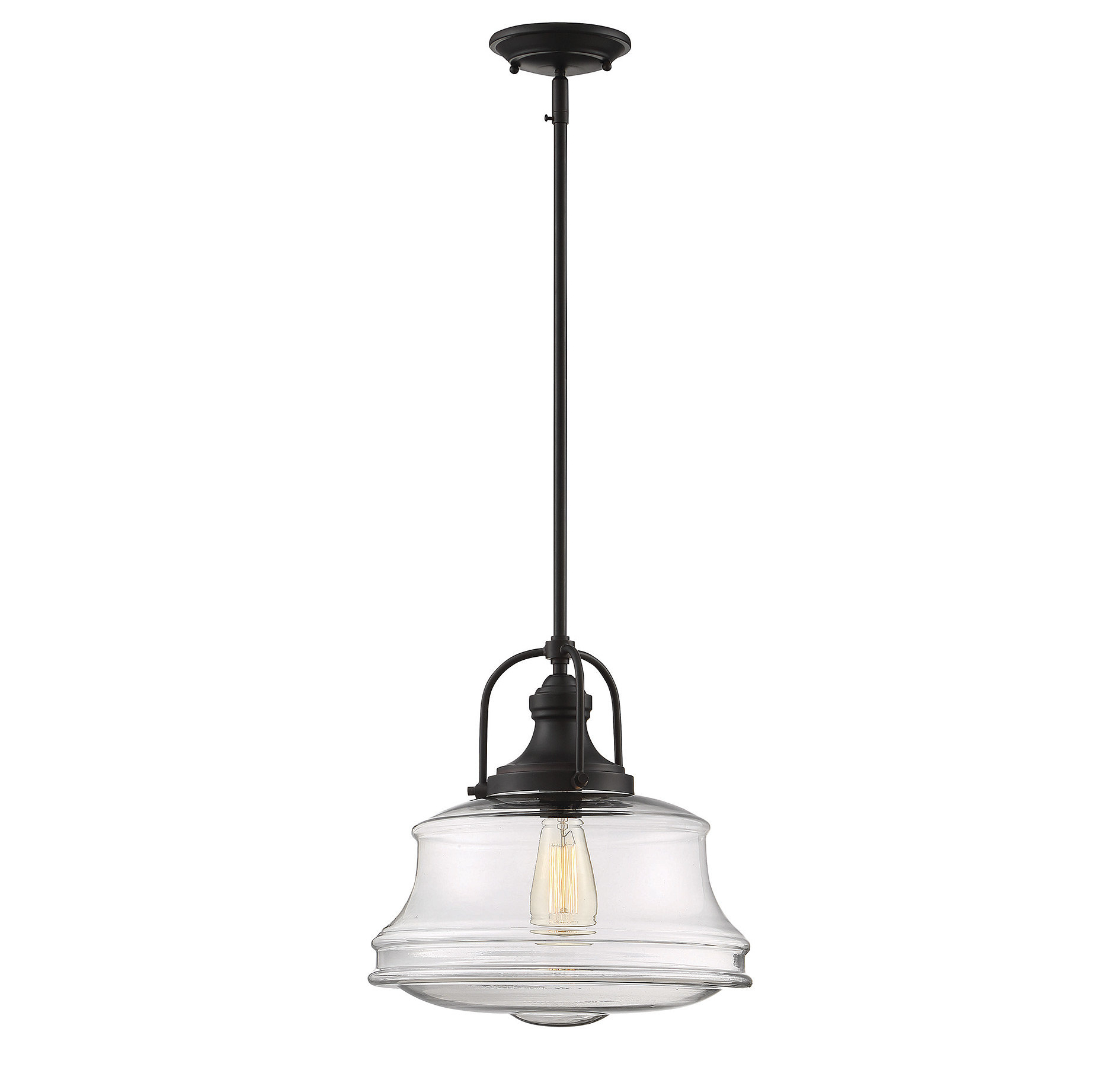 Recent Nadine 1 Light Single Schoolhouse Pendant For 1 Light Single Schoolhouse Pendants (View 18 of 20)