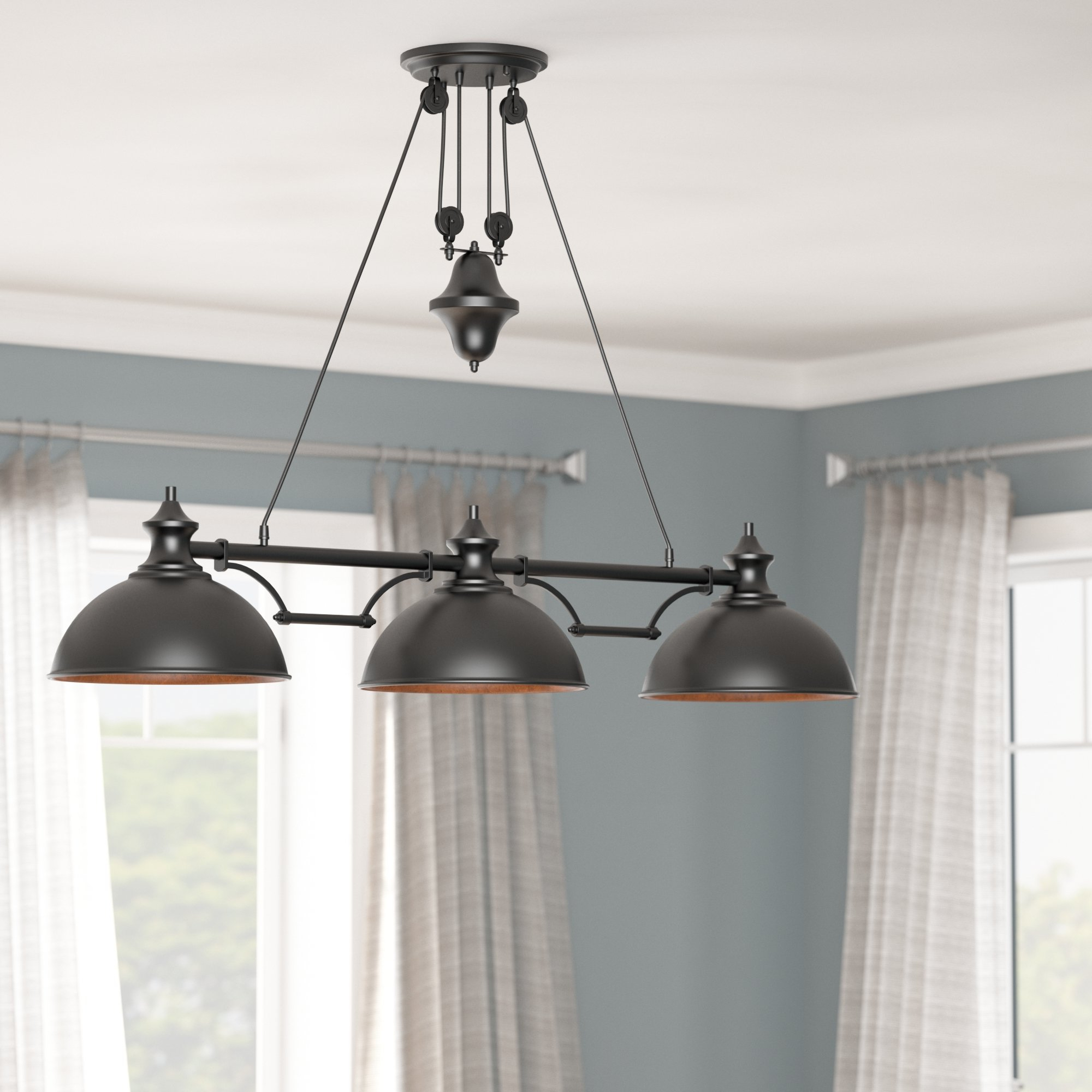 Rodriques 3 Light Kitchen Island Pendant Throughout Popular Ariel 3 Light Kitchen Island Dome Pendants (View 16 of 20)