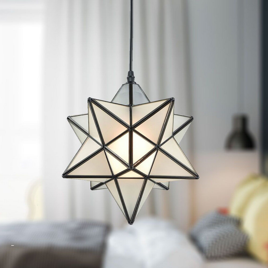 Well Known 1 Light Single Star Pendants Regarding Denzel 1 Light Single Star Pendant (View 2 of 20)