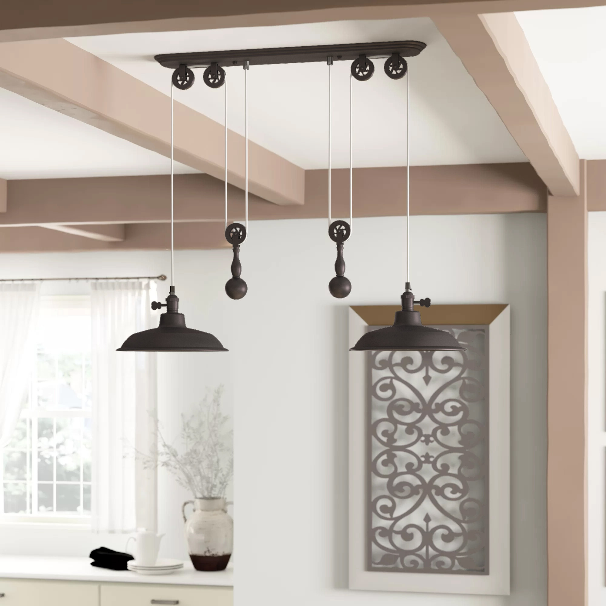 Well Known Ariel 2 Light Kitchen Island Dome Pendant Inside Ariel 3 Light Kitchen Island Dome Pendants (View 19 of 20)