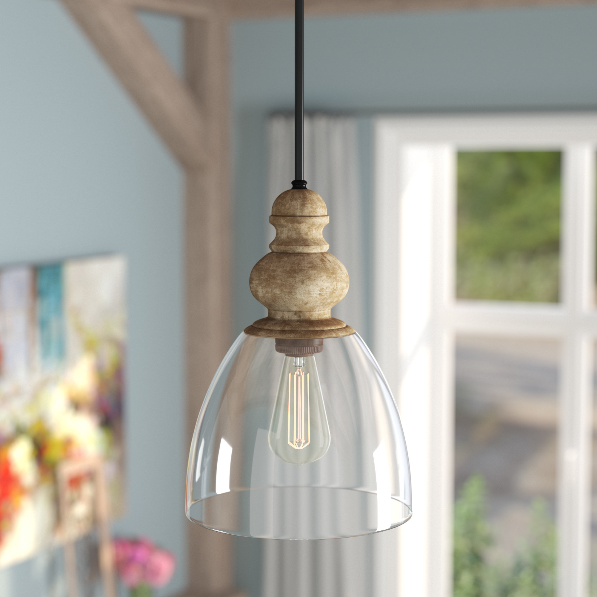 Well Known Laurel Foundry Modern Farmhouse Lemelle 1 Light Single Bell For Akakios 1 Light Single Bell Pendants (View 17 of 20)