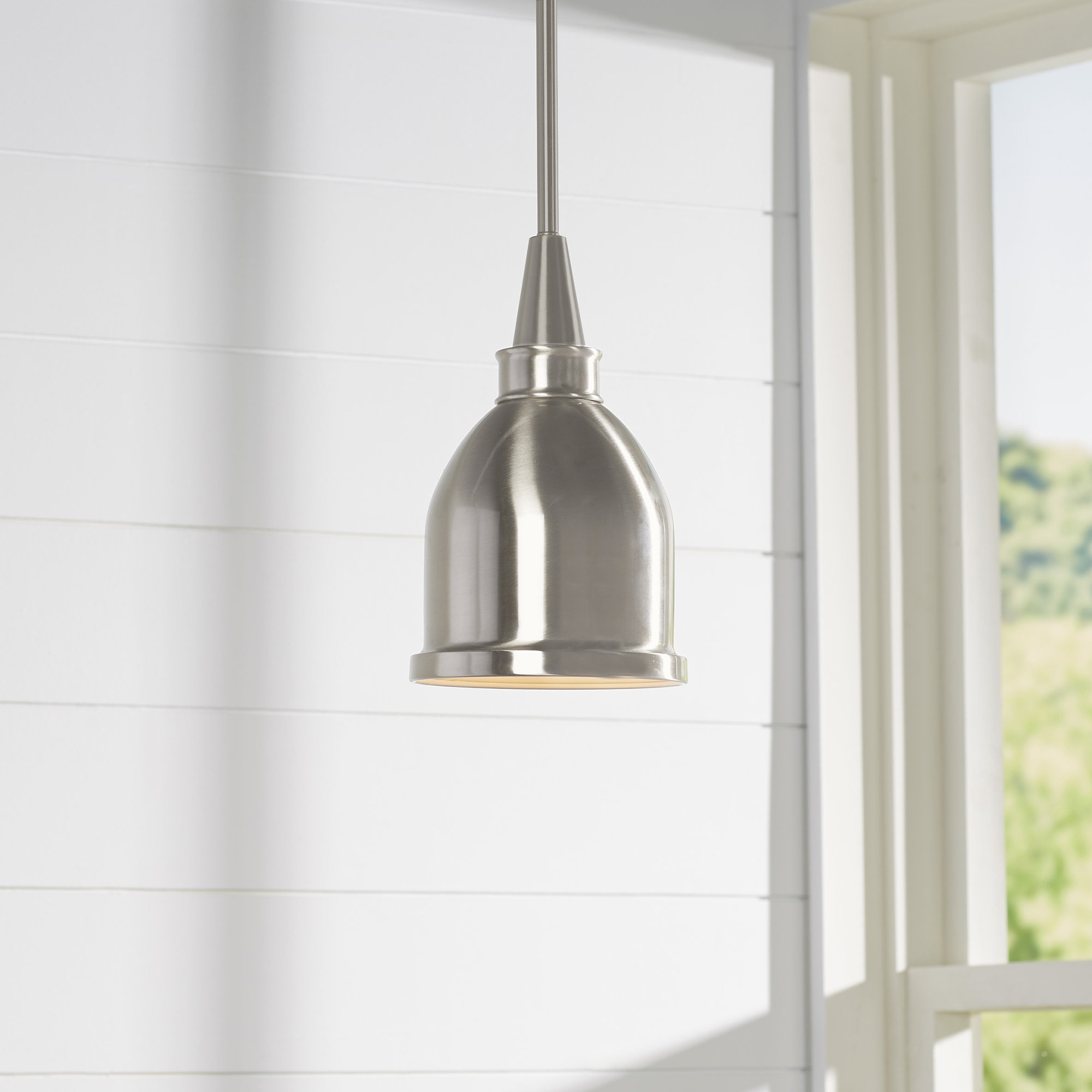 Well Known Manston 1 Light Cone Pendant Within Akakios 1 Light Single Bell Pendants (View 18 of 20)