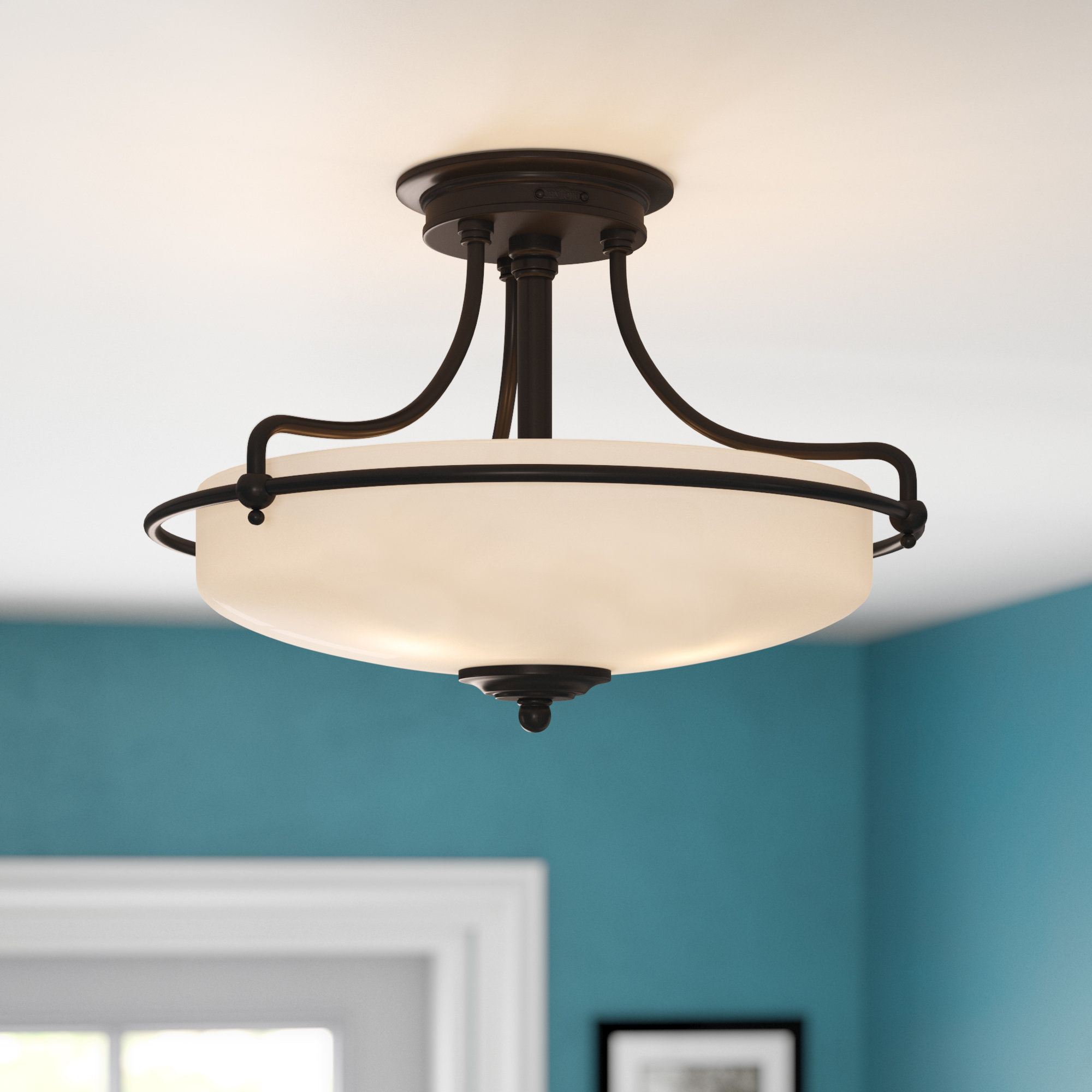Well Known Red Barrel Studio Abernathy 1 Light Dome Pendant & Reviews With Regard To Abernathy 1 Light Dome Pendants (View 17 of 20)