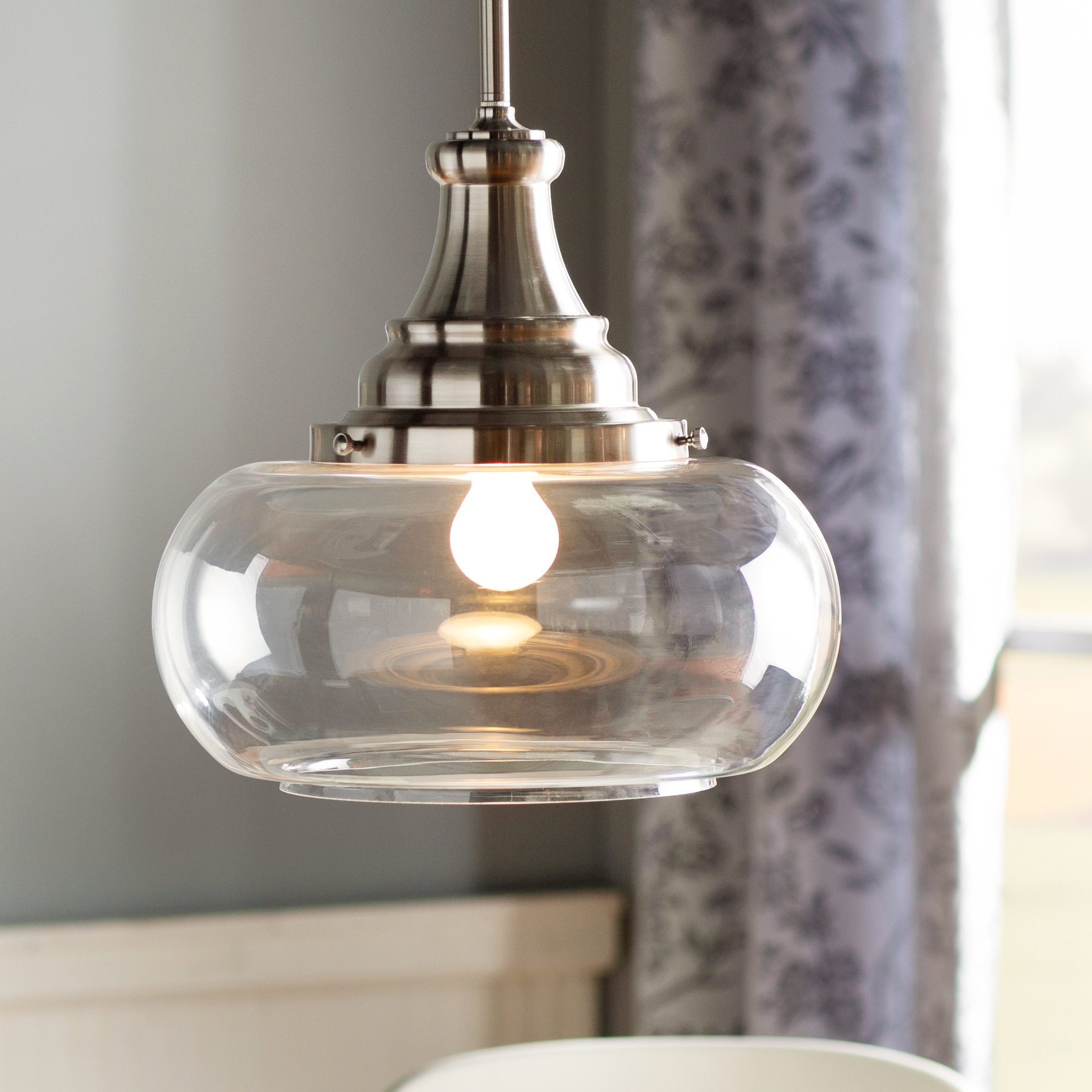 Well Liked 1 Light Single Dome Pendant With Abordale 1 Light Single Dome Pendants (View 3 of 20)