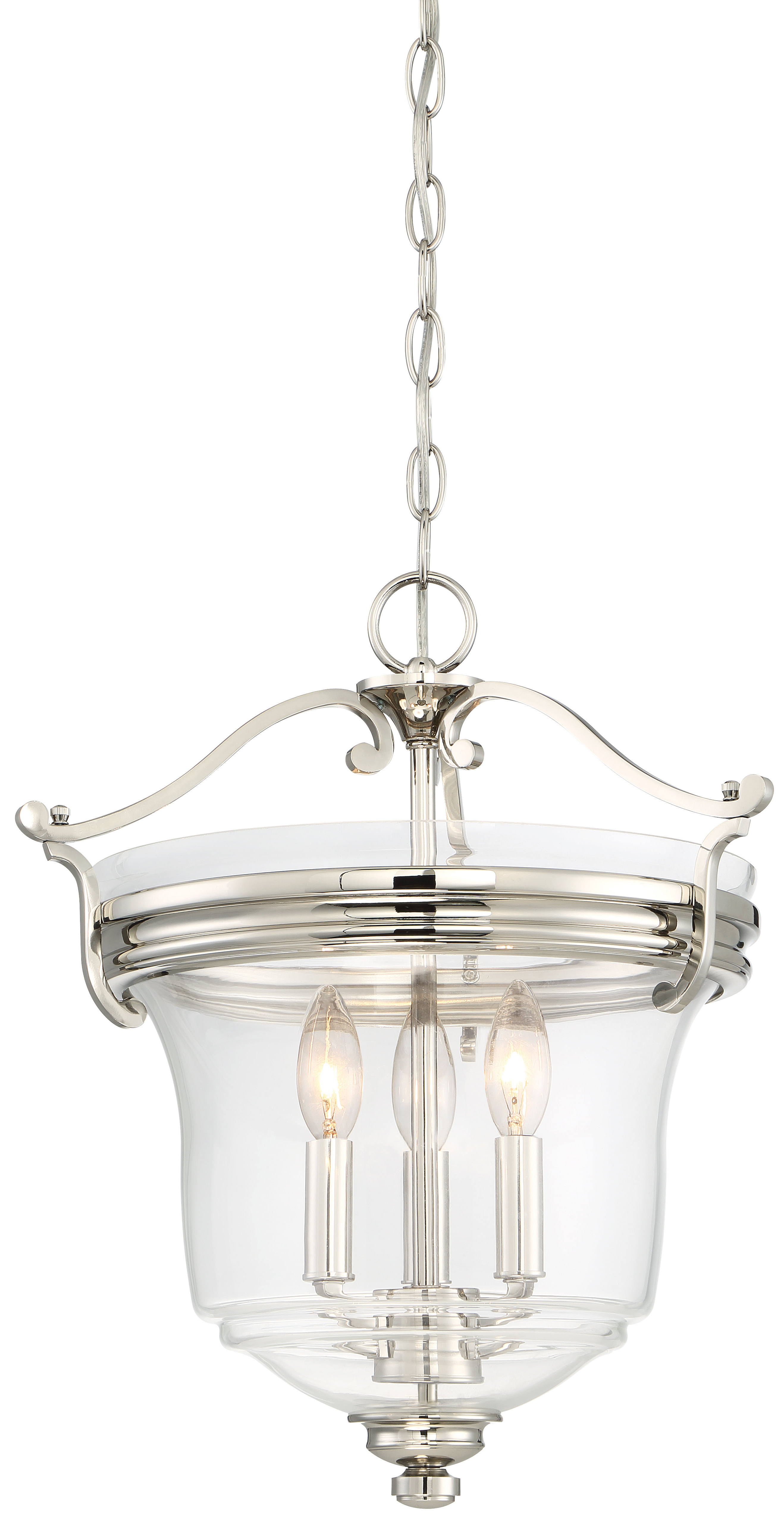 Well Liked 3 Light Single Urn Pendants Within Ameche 3 Light Single Urn Pendant (View 19 of 20)