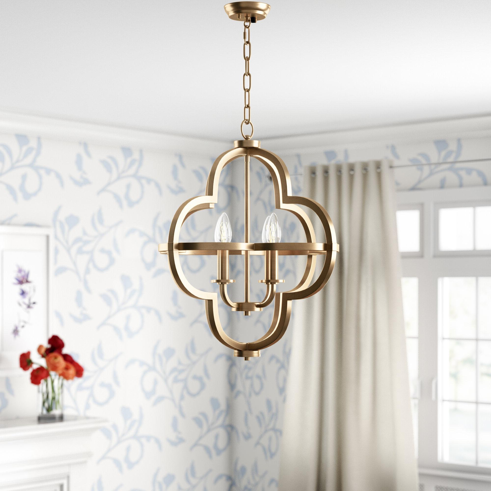 Well Liked Middleton 4 Light Single Geometric Pendant With Regard To Armande 4 Light Lantern Drum Pendants (View 19 of 20)