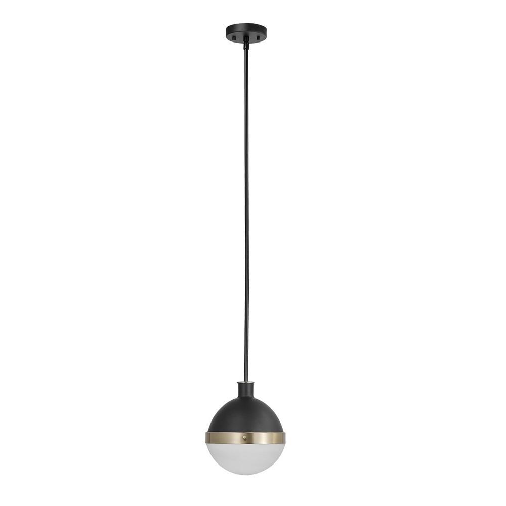 Widely Used 1 Light Globe Pendants For Globe Electric Bari 1 Light Matte Black Pendant (View 20 of 20)