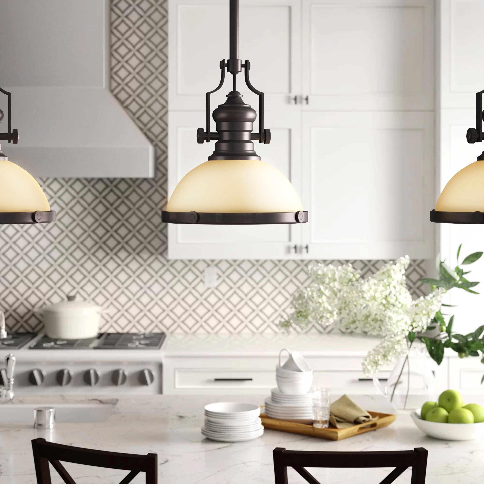 Widely Used Abernathy 1 Light Dome Pendants In Breakwater Bay Priston 1 Light Single Dome Pendant (View 19 of 20)