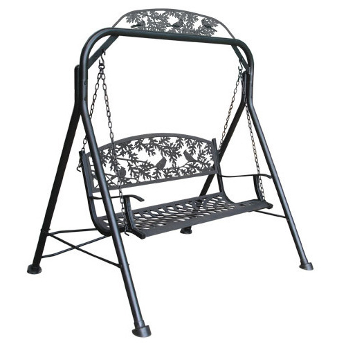 1 Person Antique Black Iron Outdoor Swings Pertaining To Fashionable Metal Swing At Best Price In India (View 13 of 20)