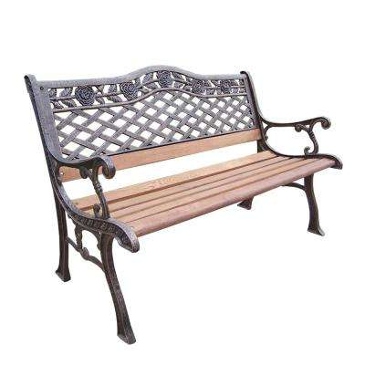 1 Person Antique Black Iron Outdoor Swings Throughout 2020 Tea Rose Bench (View 17 of 20)